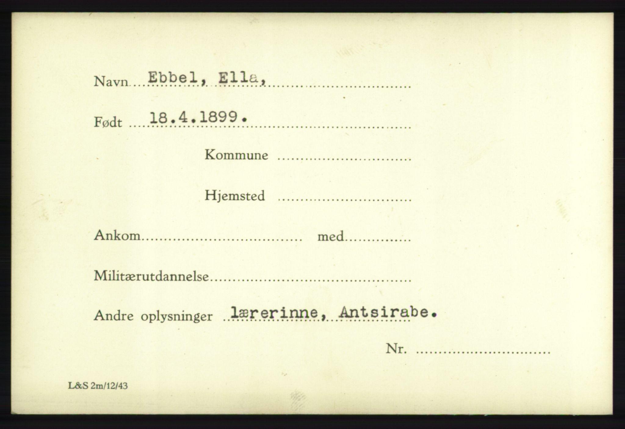 NHM, Forsvarets Overkommando. 2. kontor. Arkiv 8.1. Mottakersentralen FDE og FO.II, P/Pa/L0005: Kortsamling, 1940-1945, s. 2