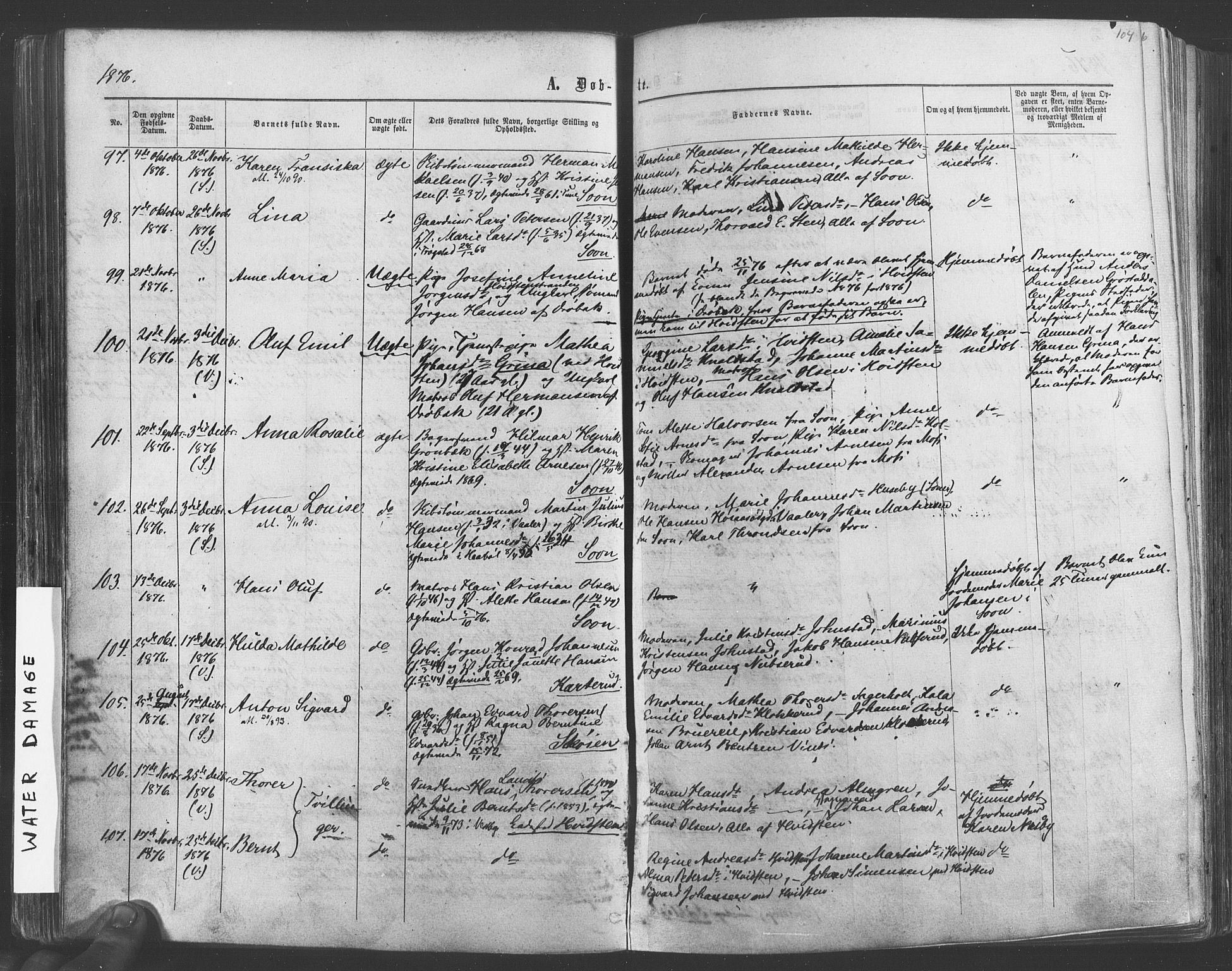 SAO, Vestby prestekontor Kirkebøker, F/Fa/L0008: Ministerialbok nr. I 8, 1863-1877, s. 104