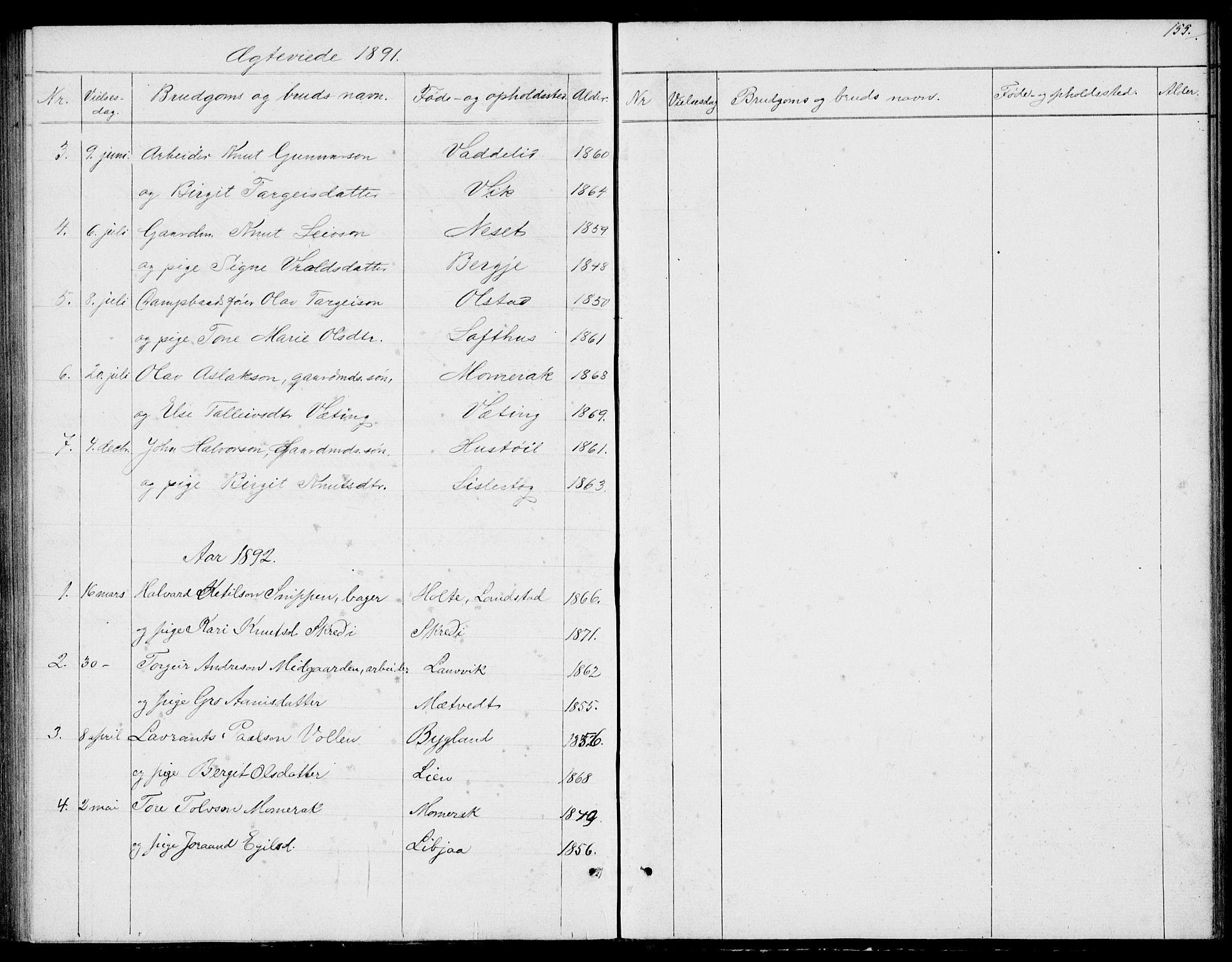 SAKO, Fyresdal kirkebøker, G/Ga/L0004: Klokkerbok nr. I 4, 1864-1892, s. 155