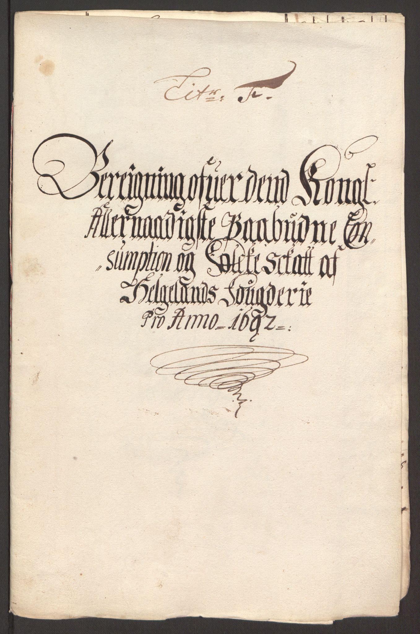 RA, Rentekammeret inntil 1814, Reviderte regnskaper, Fogderegnskap, R65/L4504: Fogderegnskap Helgeland, 1691-1692, s. 278