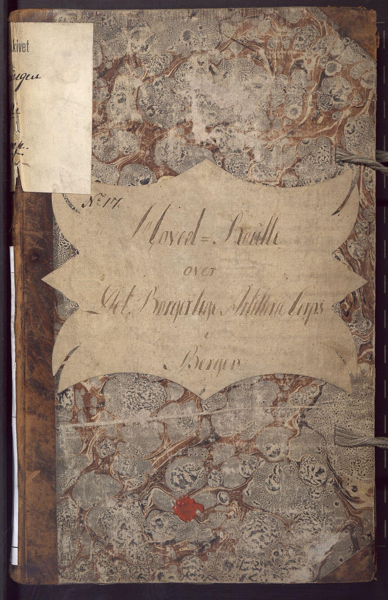 BBA, Borgervæpningen i Bergen, G/Gd/L0001: Artilleriet, 1807-1813