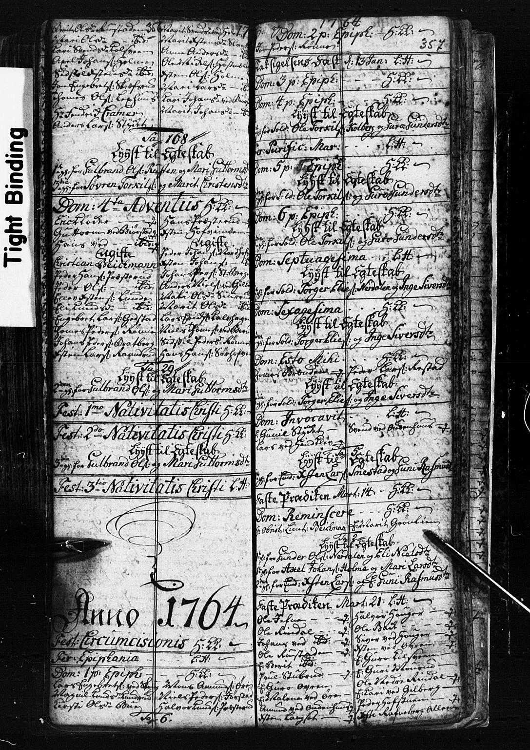 SAH, Fåberg prestekontor, Klokkerbok nr. 1, 1727-1767, s. 356-357
