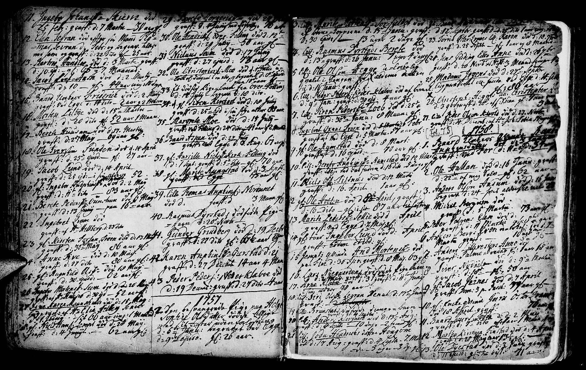 SAT, Ministerialprotokoller, klokkerbøker og fødselsregistre - Nord-Trøndelag, 746/L0439: Ministerialbok nr. 746A01, 1688-1759, s. 73