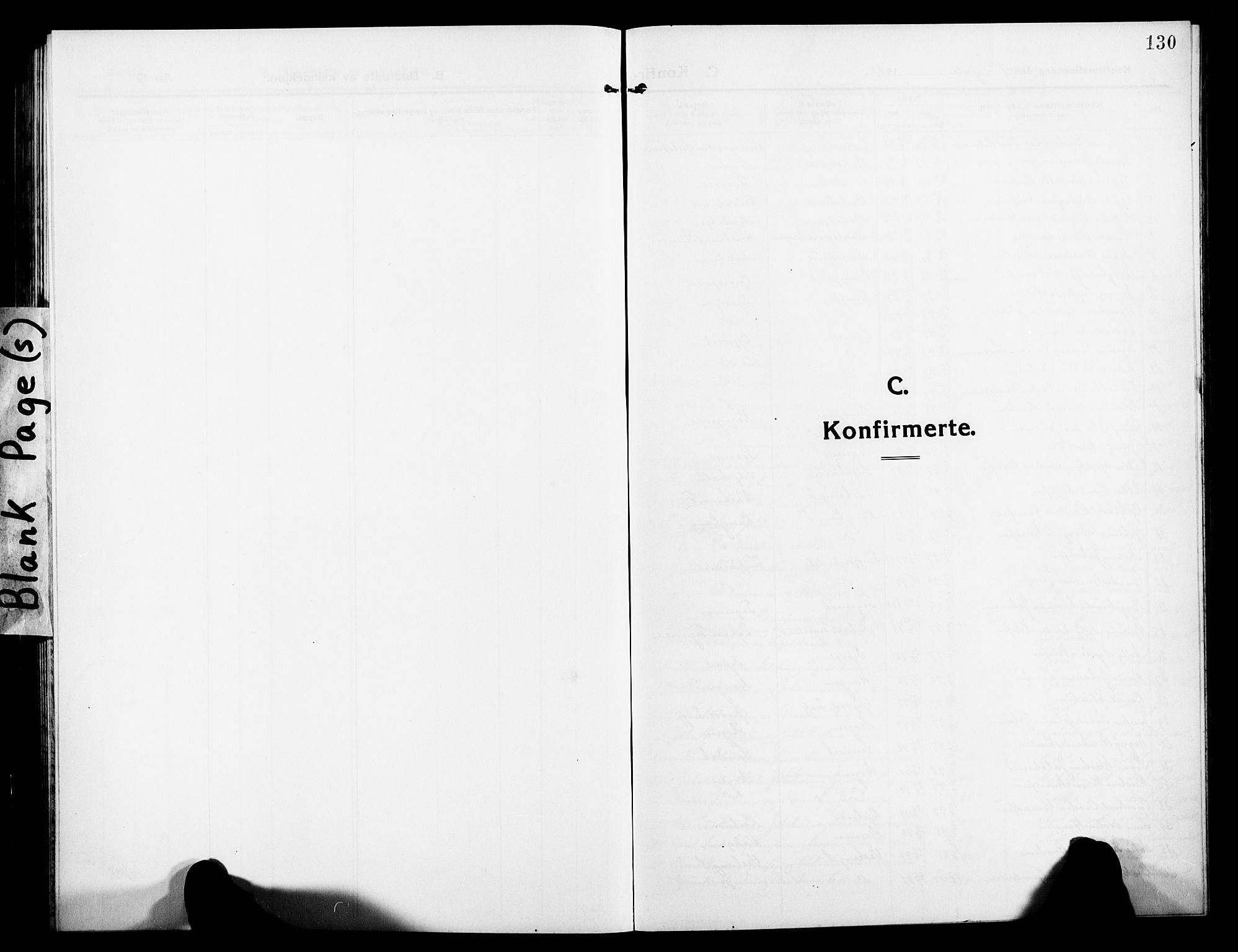 SATØ, Lenvik sokneprestembete, H/Ha: Klokkerbok nr. 9, 1912-1926, s. 130