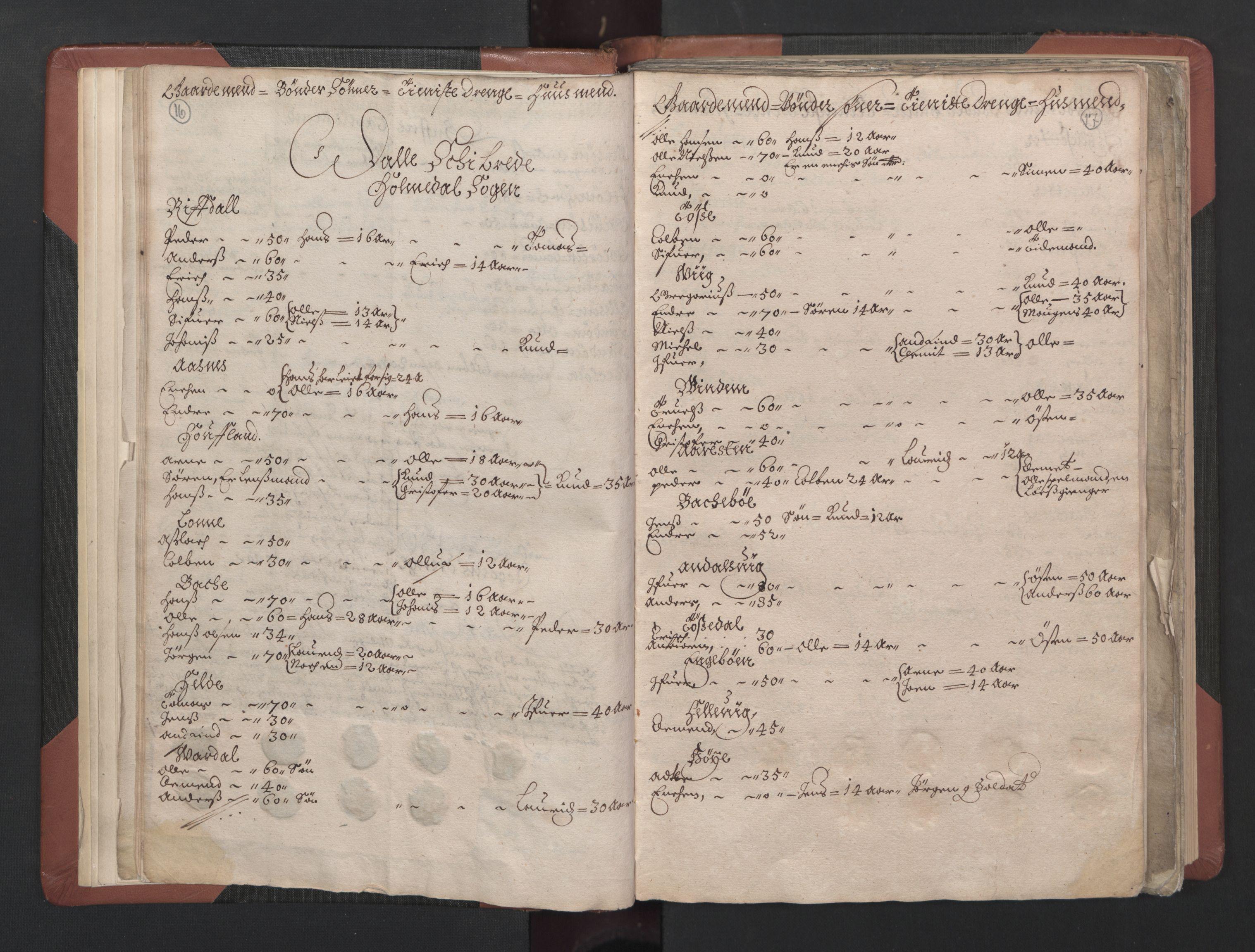 RA, Fogdenes og sorenskrivernes manntall 1664-1666, nr. 15: Nordfjord fogderi og Sunnfjord fogderi, 1664, s. 16-17