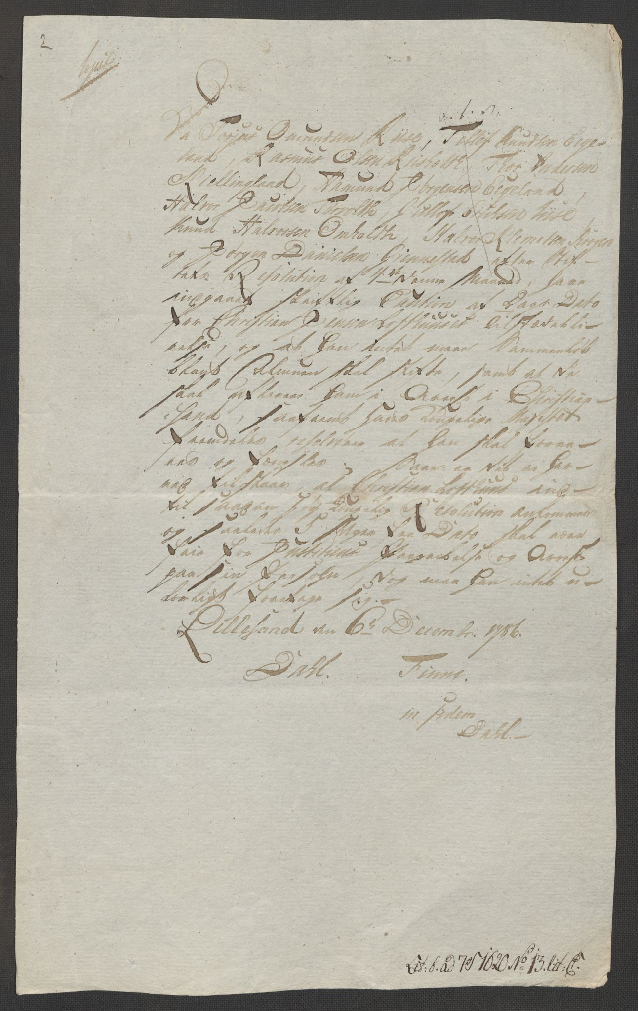 RA, Danske Kanselli, Skapsaker, F/L0095: Skap 16, pakke 7 I, 1785-1786, s. 245