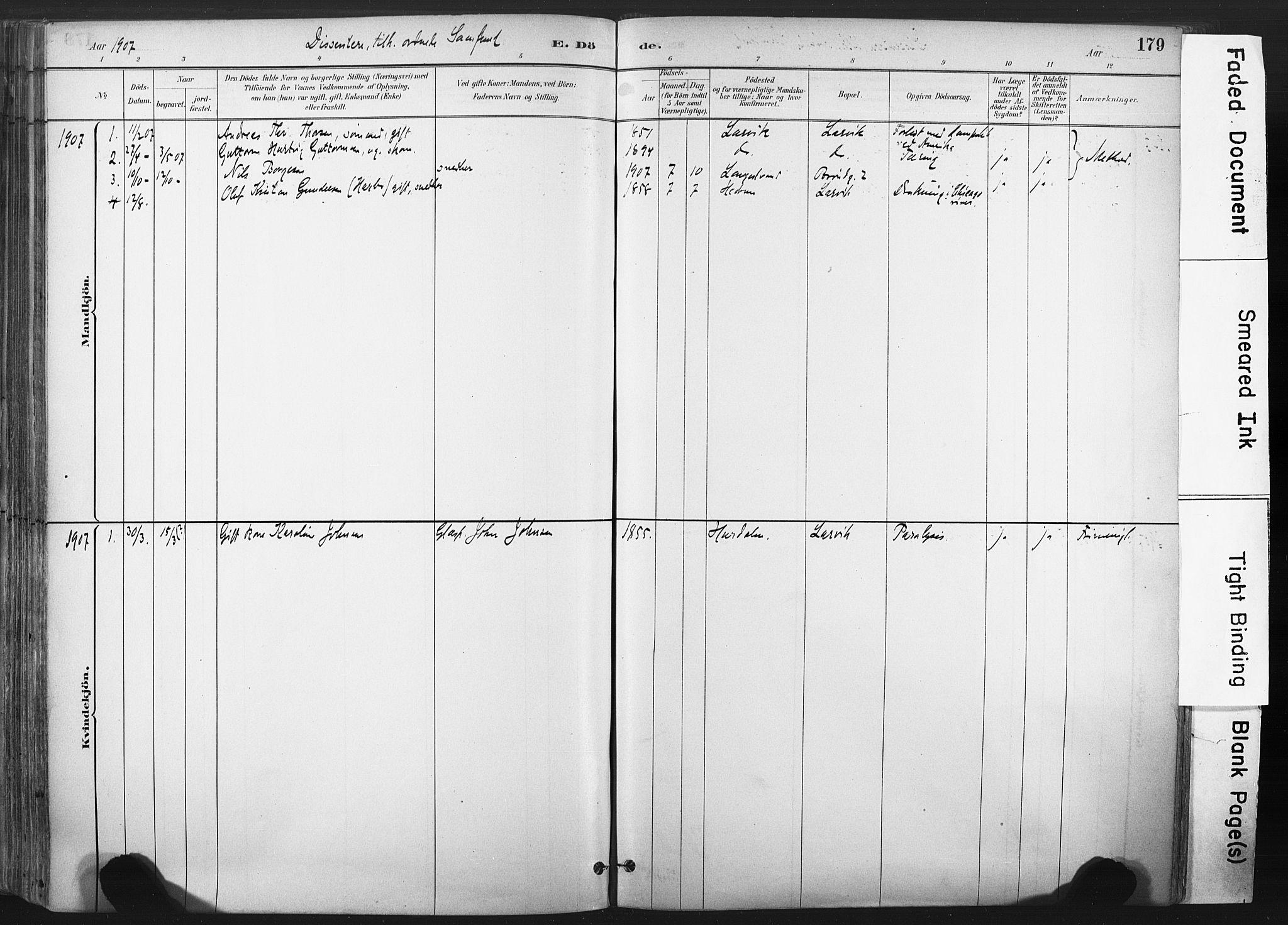 SAKO, Larvik kirkebøker, F/Fa/L0010: Ministerialbok nr. I 10, 1884-1910, s. 179