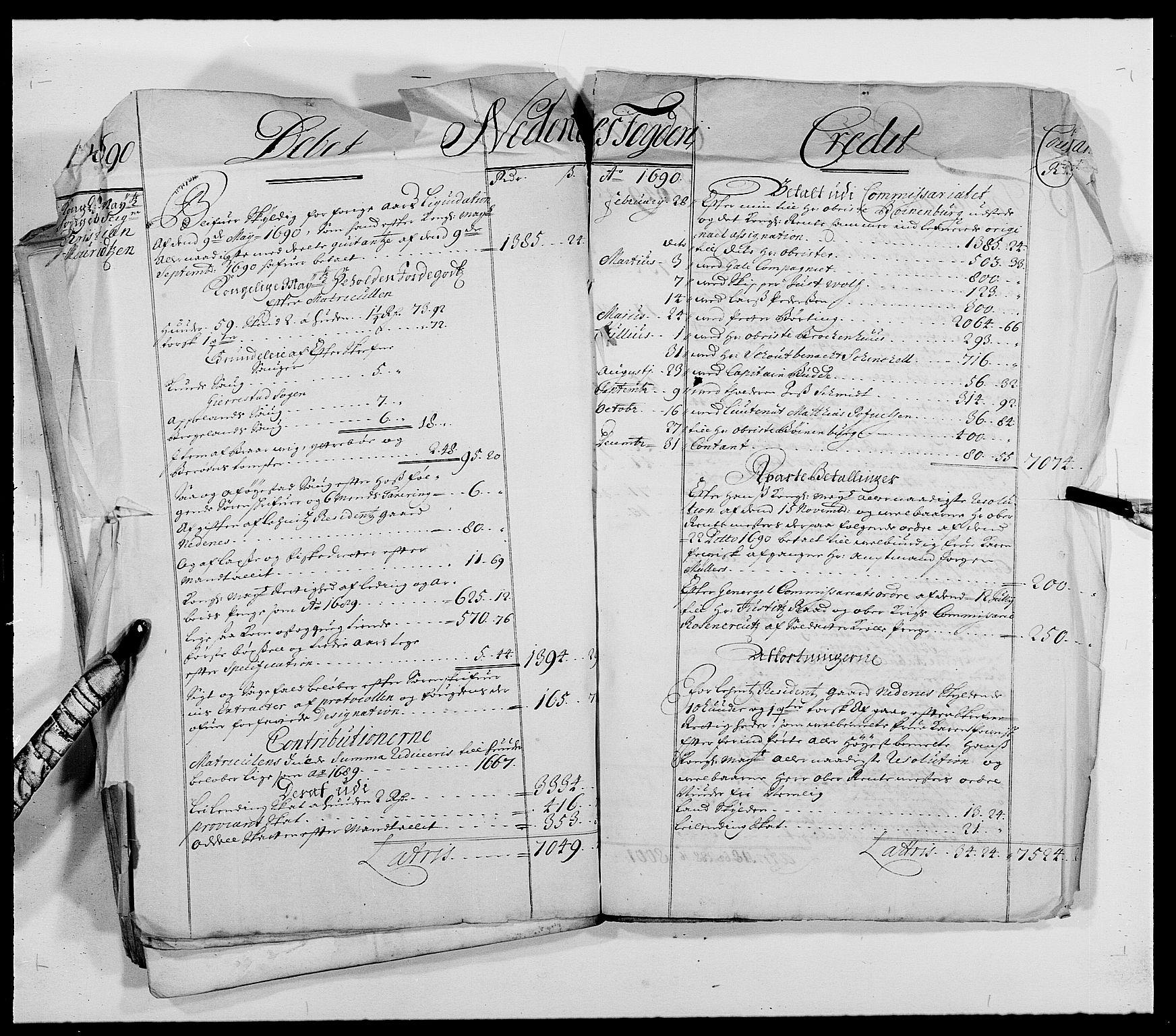RA, Rentekammeret inntil 1814, Reviderte regnskaper, Fogderegnskap, R39/L2310: Fogderegnskap Nedenes, 1690-1692, s. 32