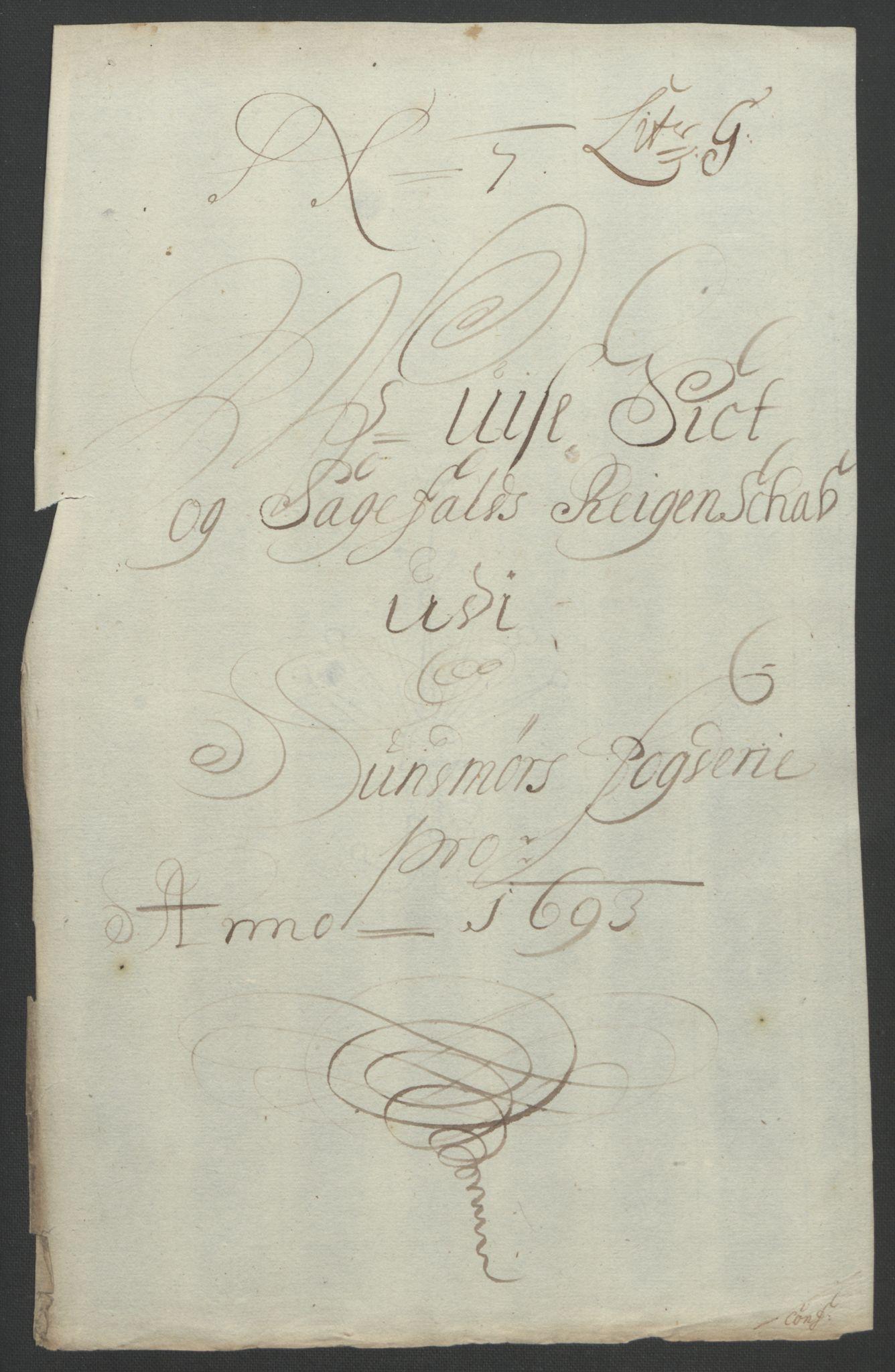 RA, Rentekammeret inntil 1814, Reviderte regnskaper, Fogderegnskap, R54/L3554: Fogderegnskap Sunnmøre, 1691-1693, s. 484