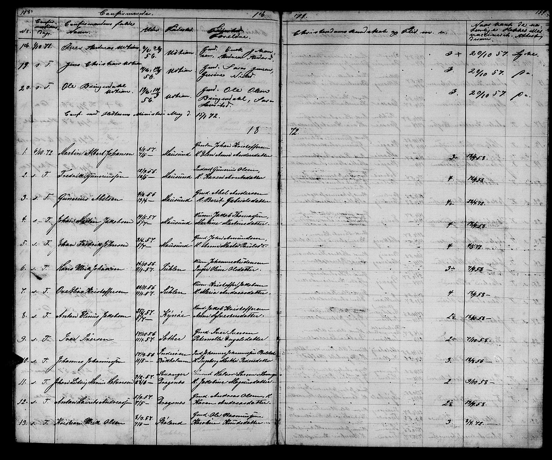 SAT, Ministerialprotokoller, klokkerbøker og fødselsregistre - Sør-Trøndelag, 640/L0583: Klokkerbok nr. 640C01, 1866-1877, s. 158-159