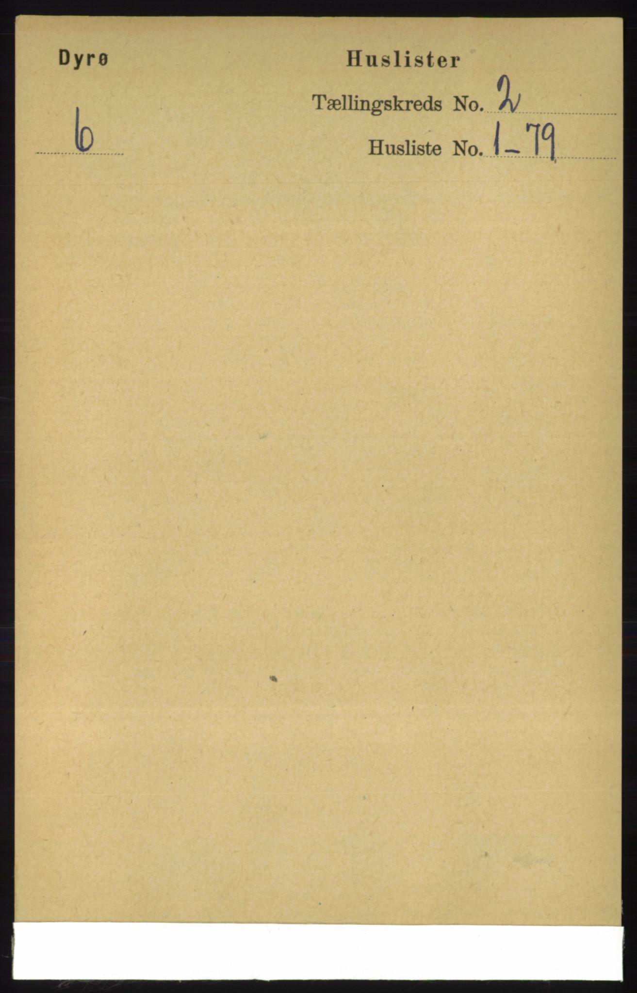 RA, Folketelling 1891 for 1926 Dyrøy herred, 1891, s. 452