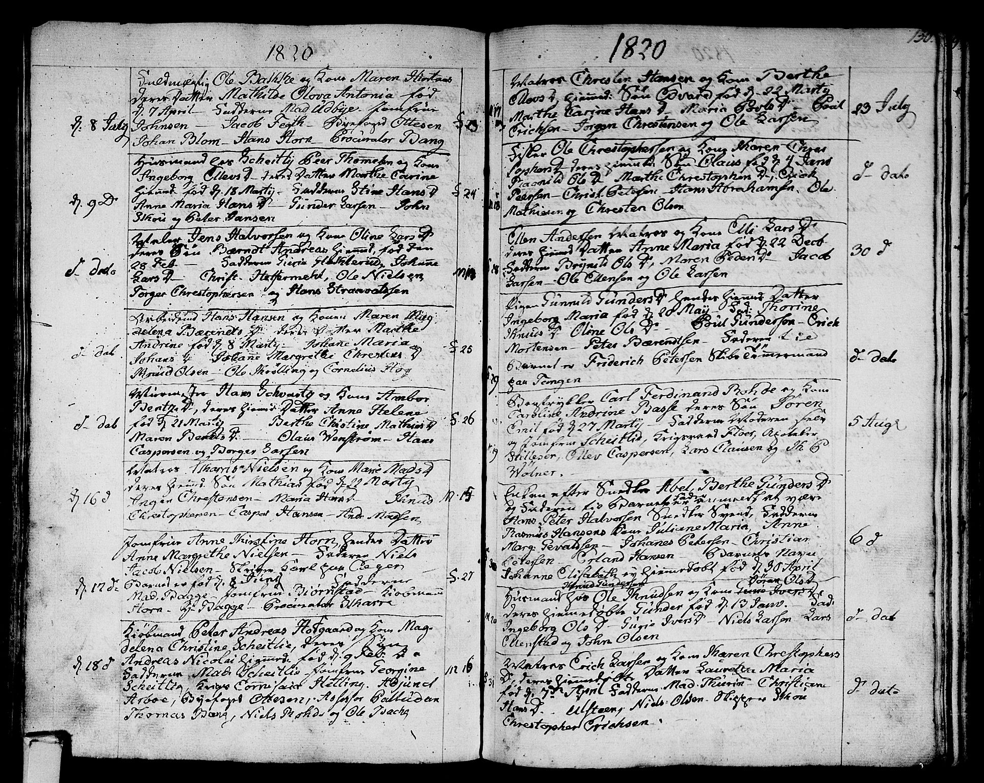 SAKO, Strømsø kirkebøker, F/Fa/L0010: Ministerialbok nr. I 10, 1792-1822, s. 130
