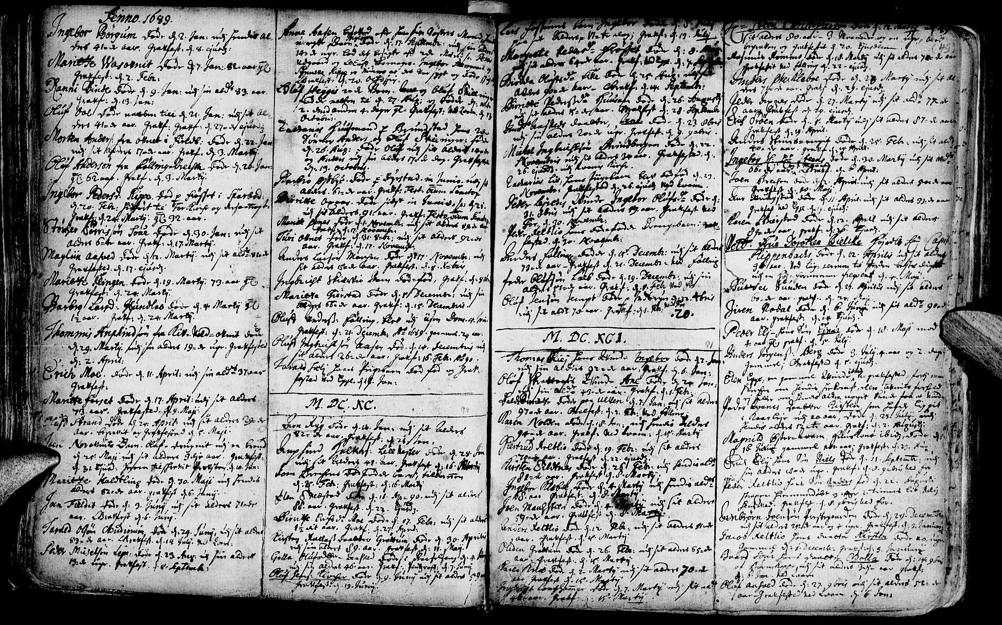 SAT, Ministerialprotokoller, klokkerbøker og fødselsregistre - Nord-Trøndelag, 746/L0439: Ministerialbok nr. 746A01, 1688-1759, s. 49