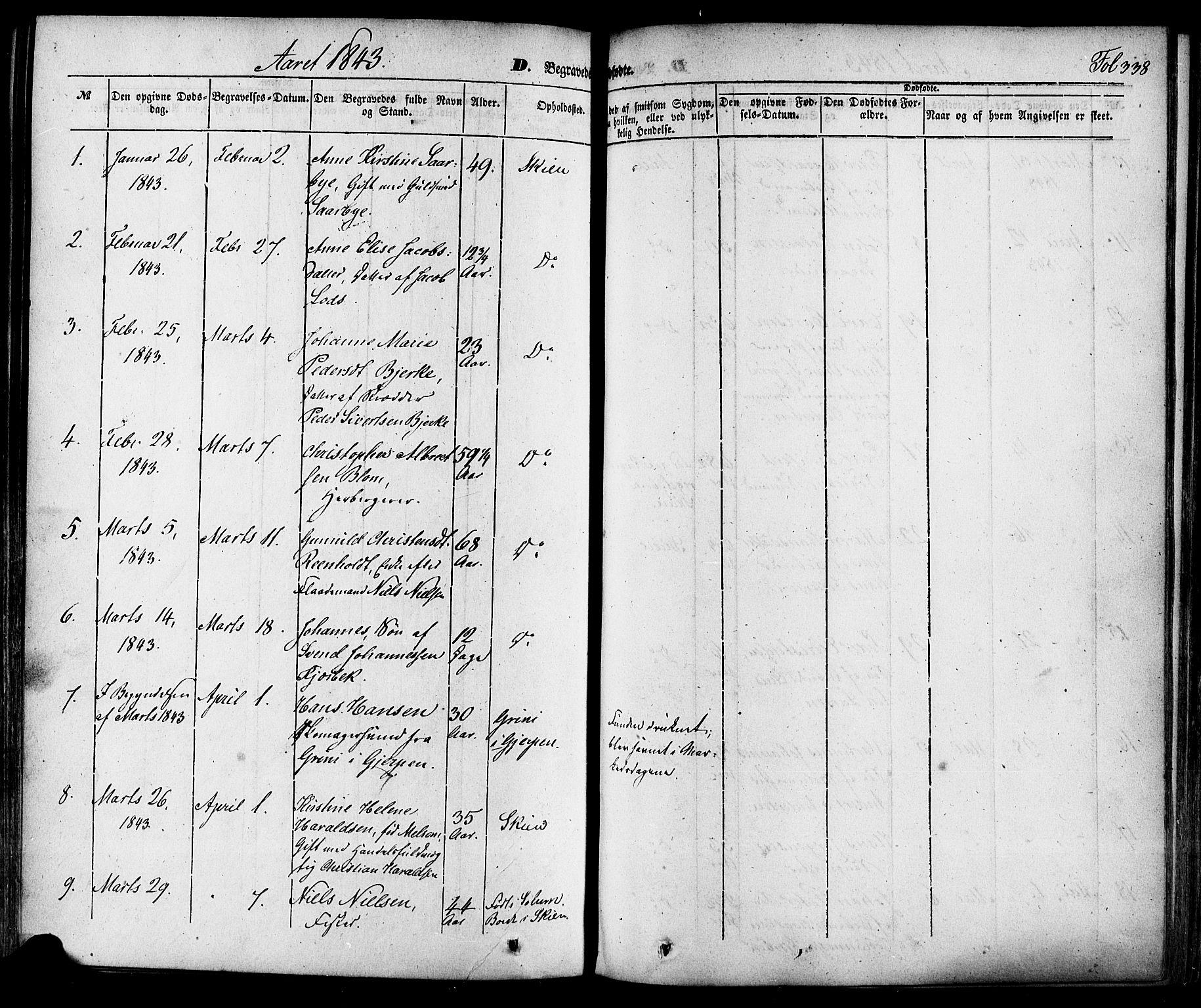 SAKO, Skien kirkebøker, F/Fa/L0006a: Ministerialbok nr. 6A, 1843-1856, s. 338