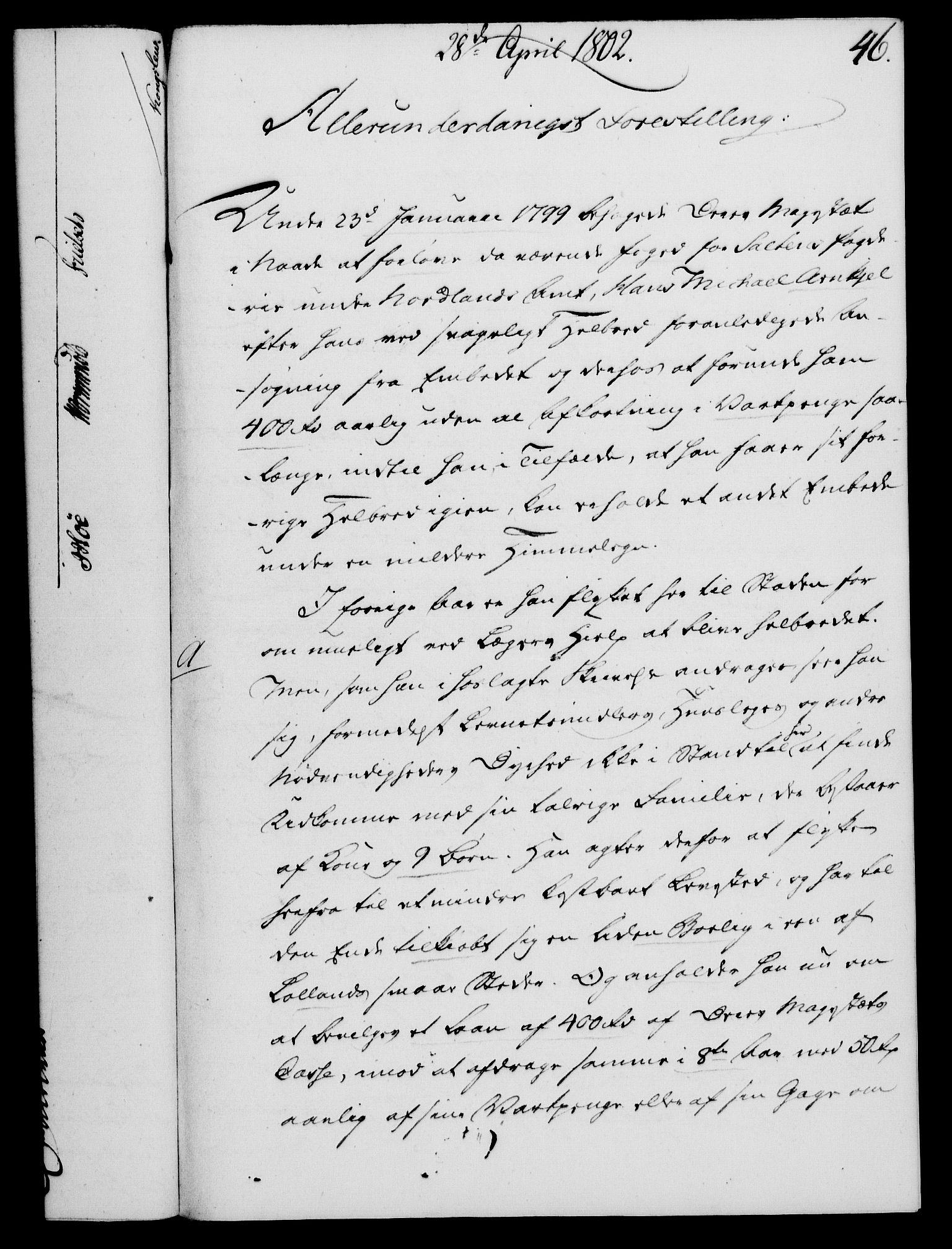 RA, Rentekammeret, Kammerkanselliet, G/Gf/Gfa/L0084: Norsk relasjons- og resolusjonsprotokoll (merket RK 52.84), 1802, s. 311