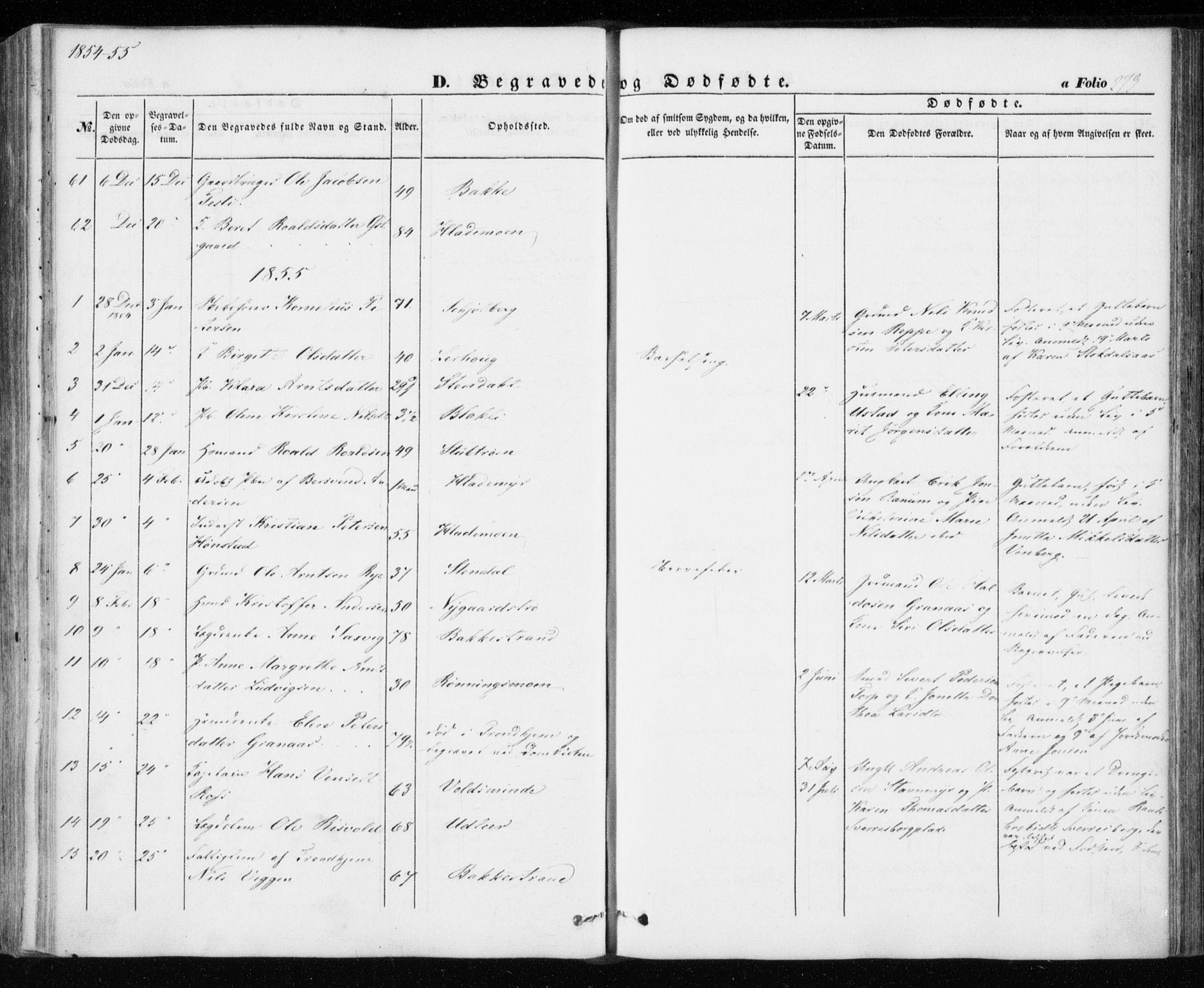 SAT, Ministerialprotokoller, klokkerbøker og fødselsregistre - Sør-Trøndelag, 606/L0291: Ministerialbok nr. 606A06, 1848-1856, s. 273