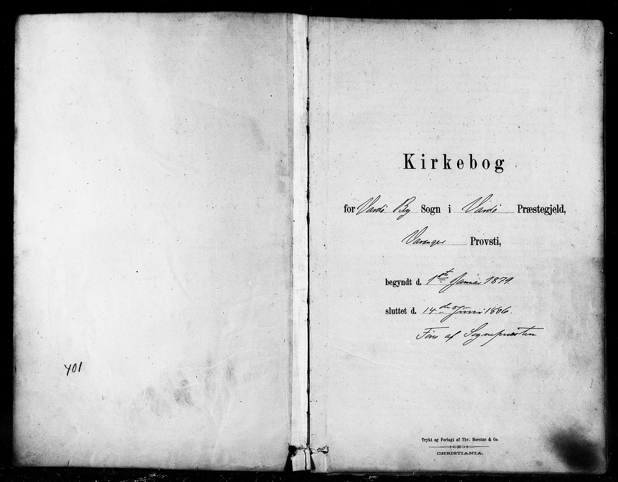 SATØ, Vardø sokneprestkontor, H/Ha/L0006kirke: Ministerialbok nr. 6, 1879-1886