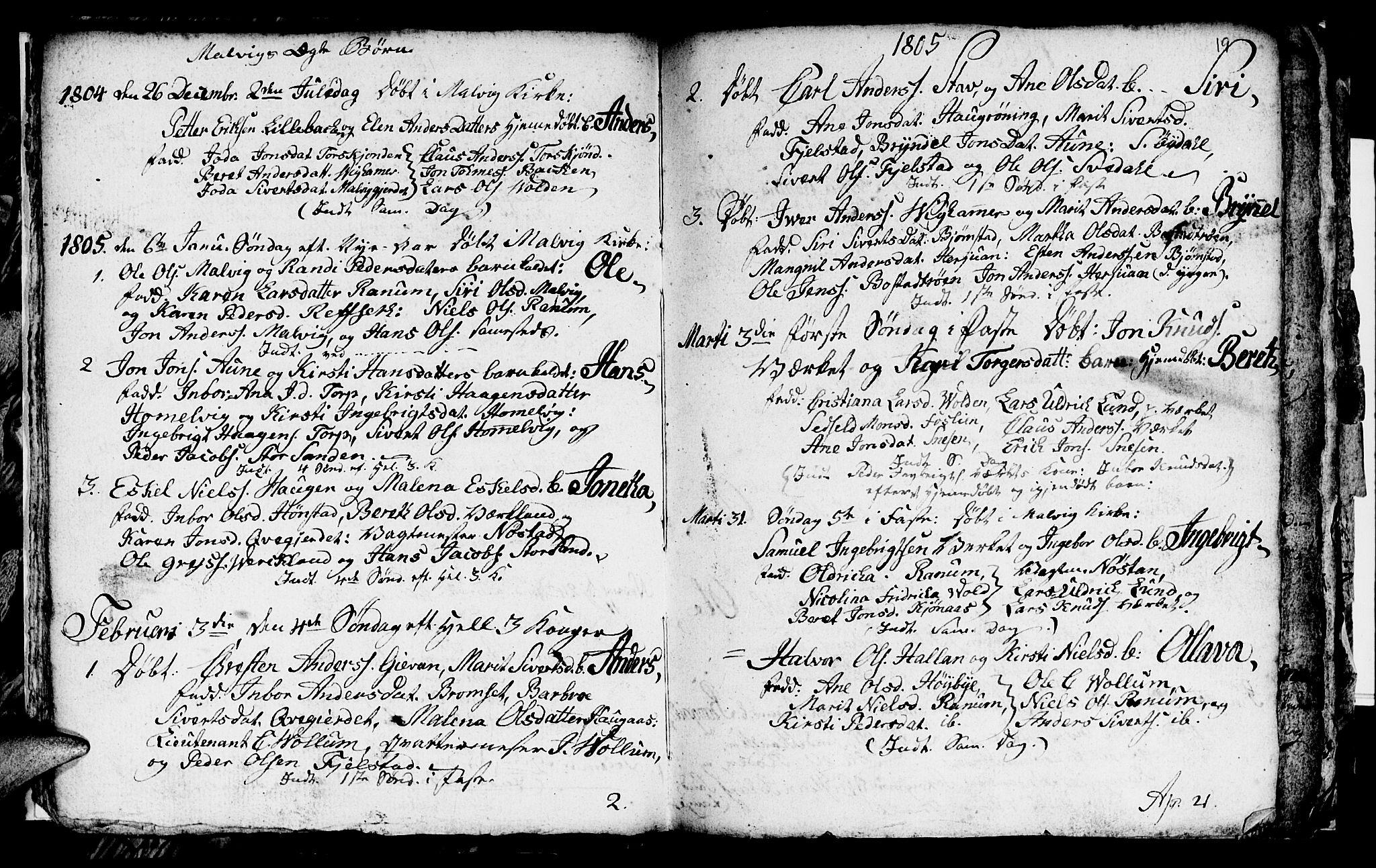 SAT, Ministerialprotokoller, klokkerbøker og fødselsregistre - Sør-Trøndelag, 616/L0419: Klokkerbok nr. 616C02, 1797-1816, s. 19