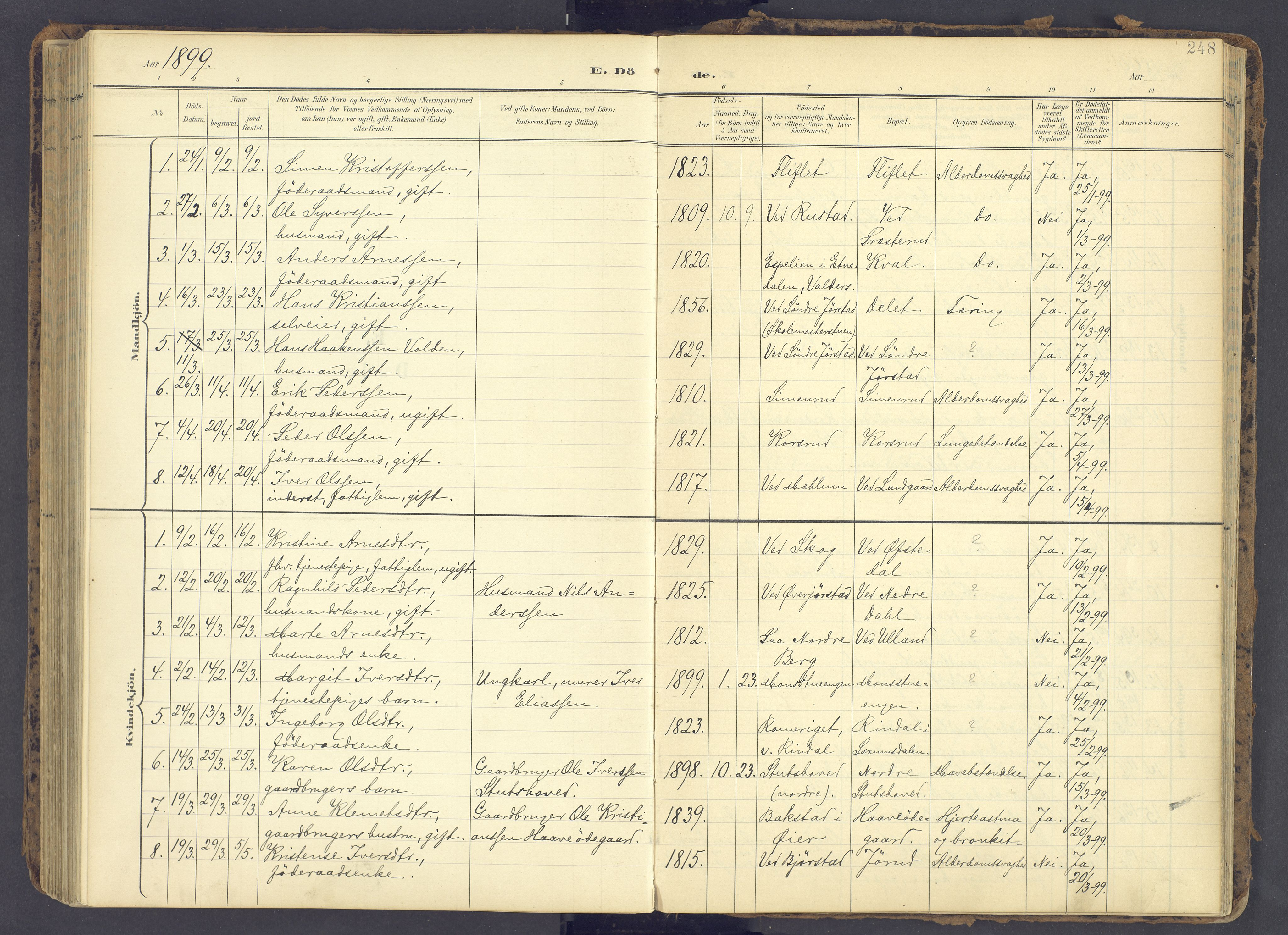 SAH, Fåberg prestekontor, Ministerialbok nr. 12, 1899-1915, s. 248