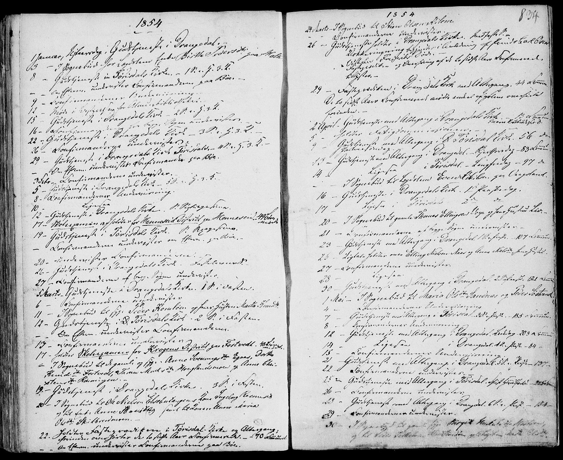 SAKO, Drangedal kirkebøker, F/Fa/L0007b: Ministerialbok nr. 7b, 1837-1856, s. 834