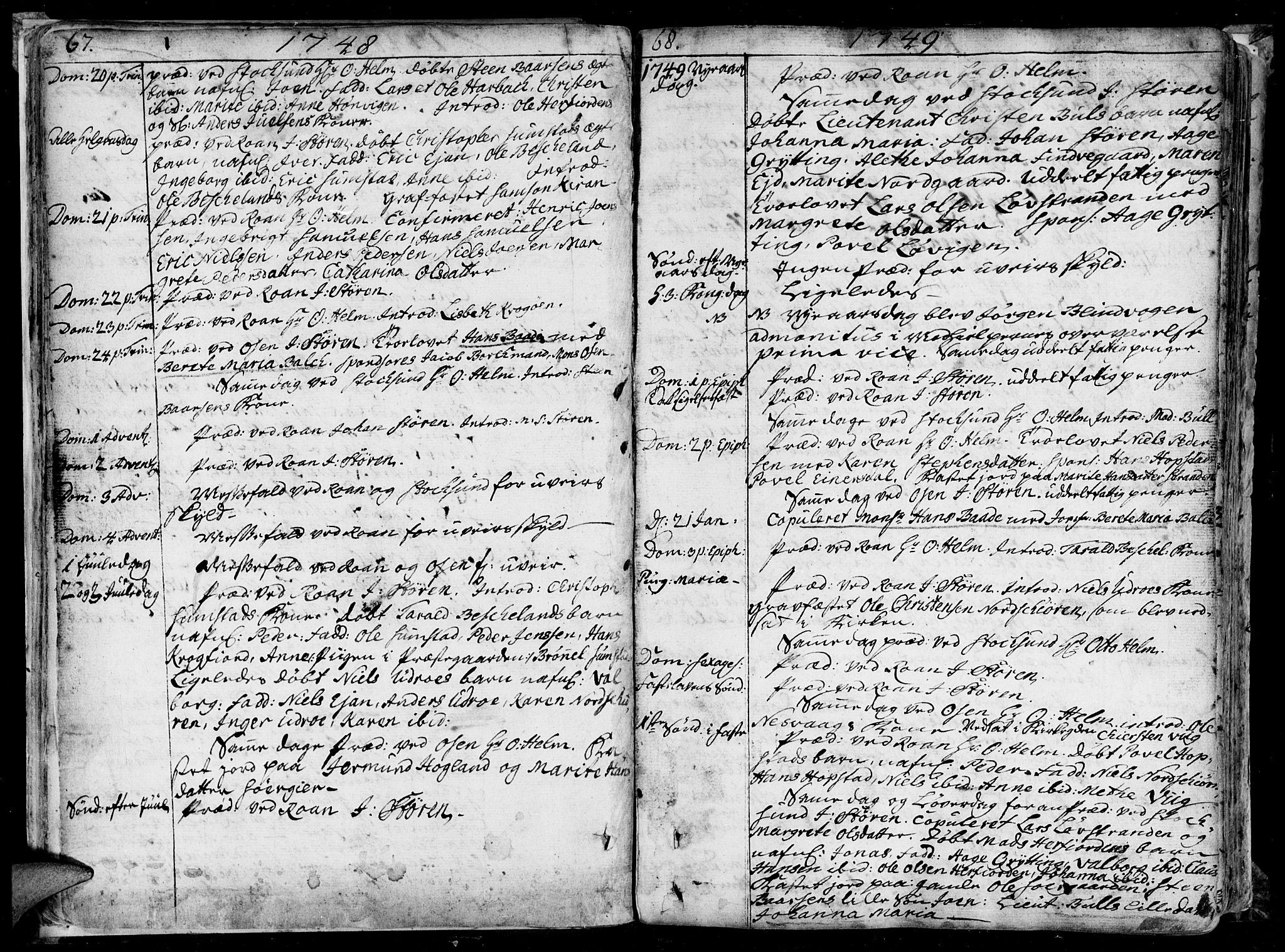 SAT, Ministerialprotokoller, klokkerbøker og fødselsregistre - Sør-Trøndelag, 657/L0700: Ministerialbok nr. 657A01, 1732-1801, s. 66-67