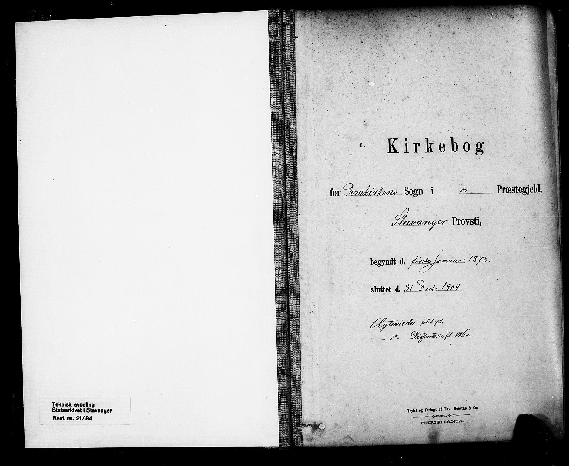 SAST, Domkirken sokneprestkontor, 30/30BA/L0029: Ministerialbok nr. A 28, 1878-1904