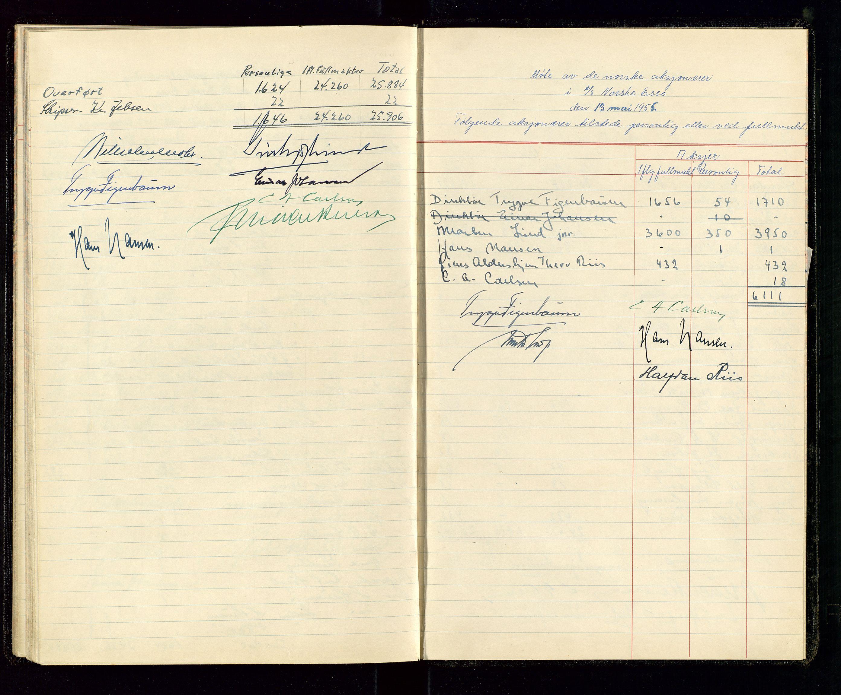 SAST, PA 1534 - Østlandske Petroleumscompagni A/S, A/Aa/L0001: Generalforsamlinger og direksjonsprotokoller., 1935-1963, s. 39