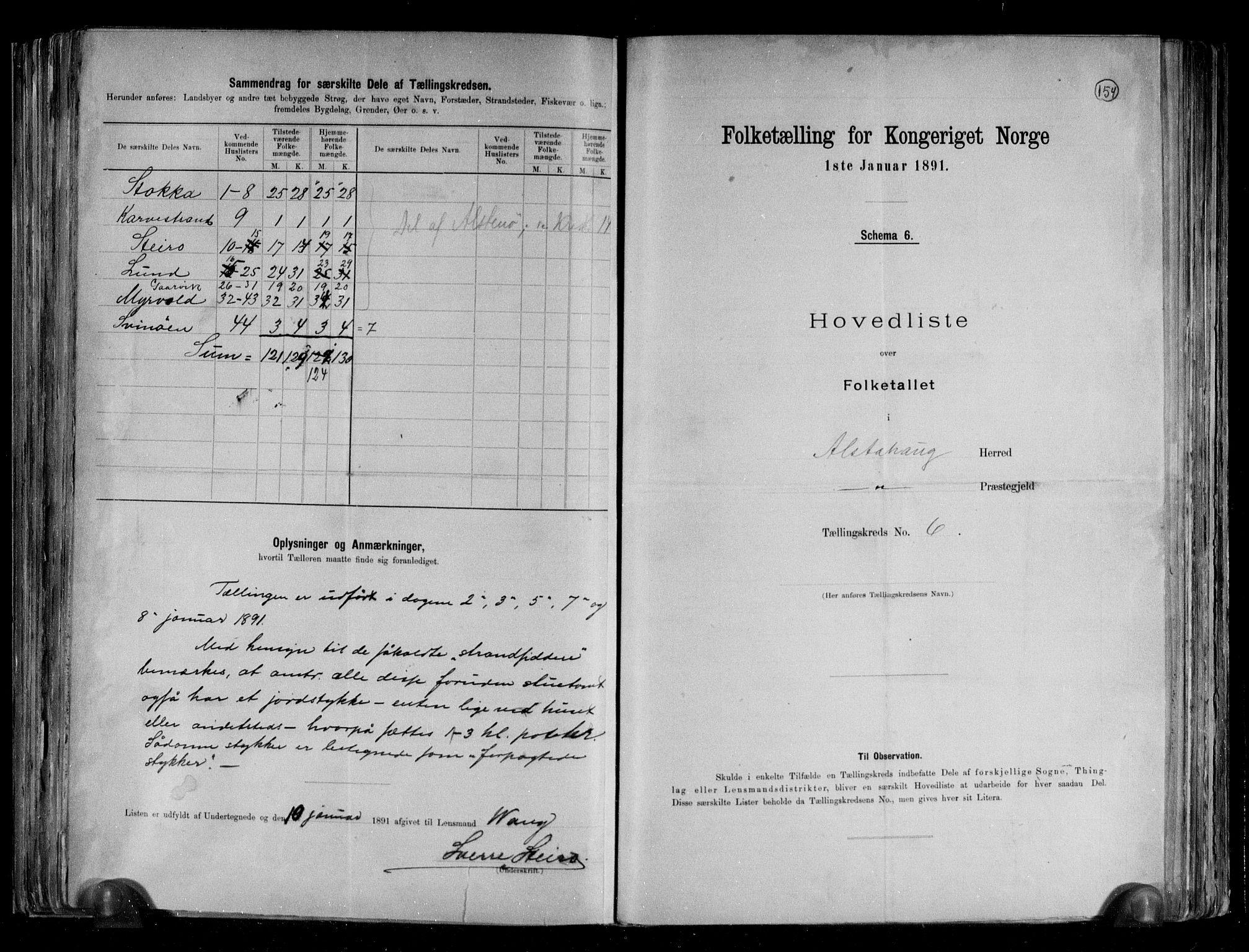 RA, Folketelling 1891 for 1820 Alstahaug herred, 1891, s. 16