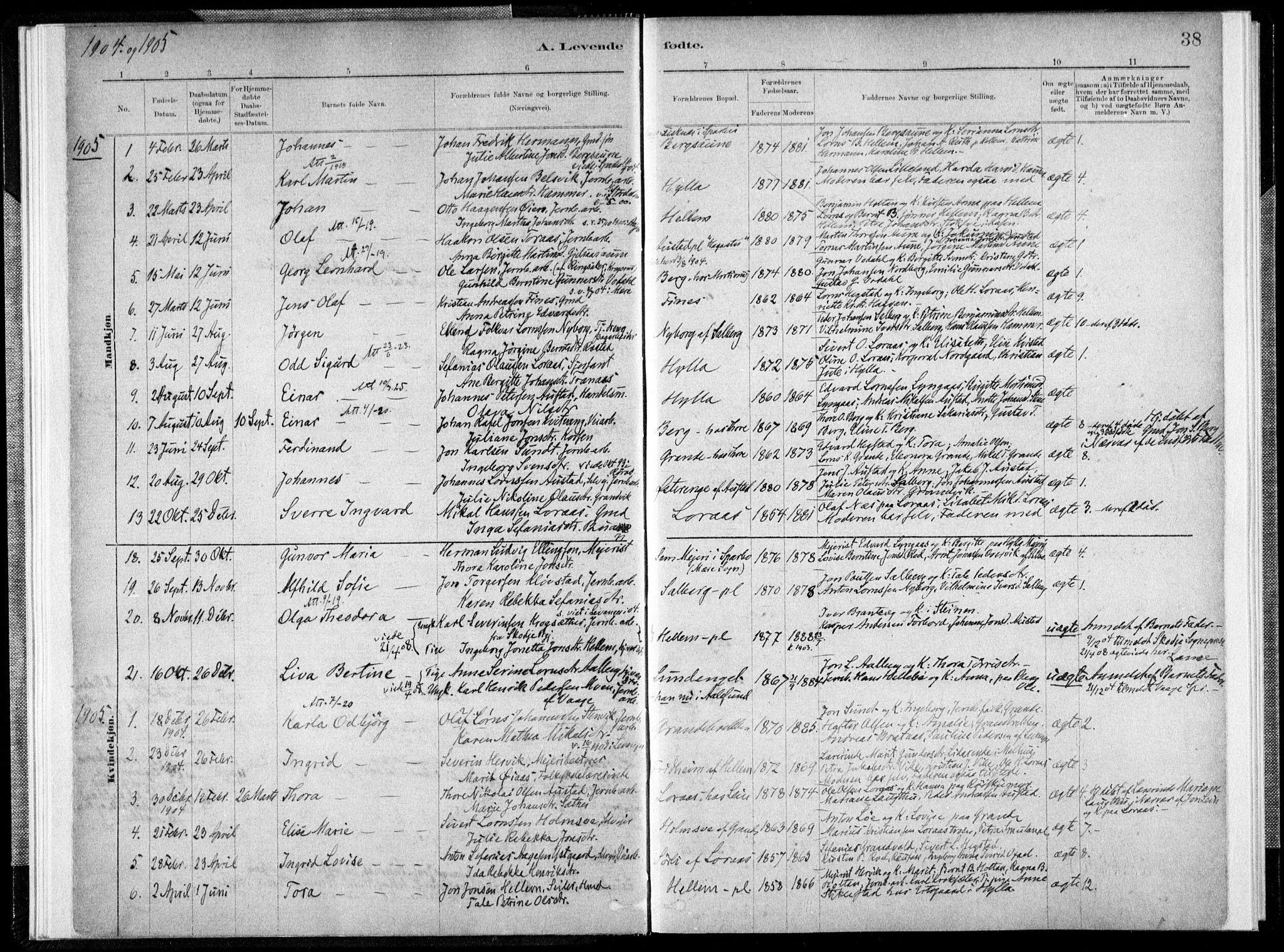 SAT, Ministerialprotokoller, klokkerbøker og fødselsregistre - Nord-Trøndelag, 731/L0309: Ministerialbok nr. 731A01, 1879-1918, s. 38