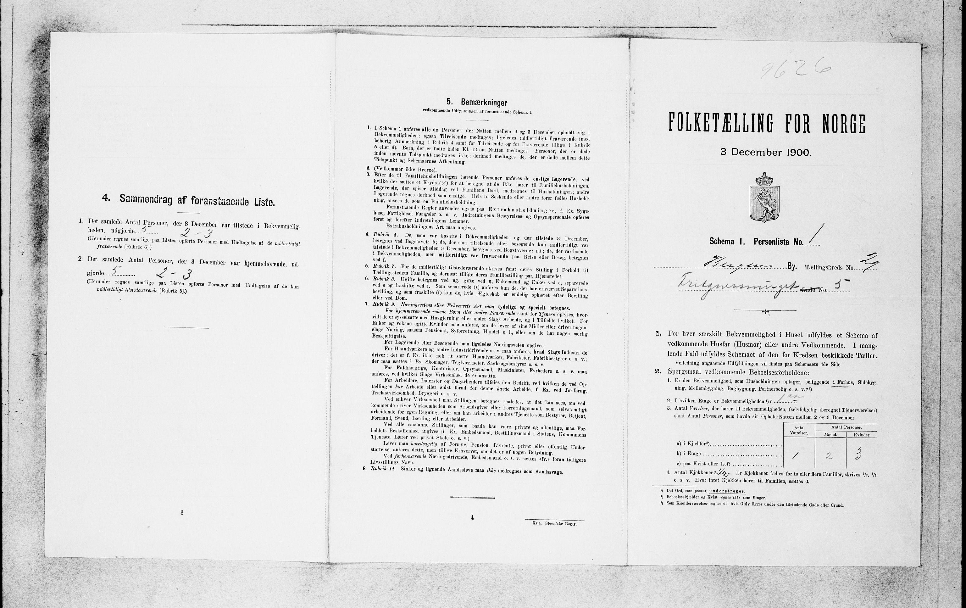 SAB, Folketelling 1900 for 1301 Bergen kjøpstad, 1900, s. 6092