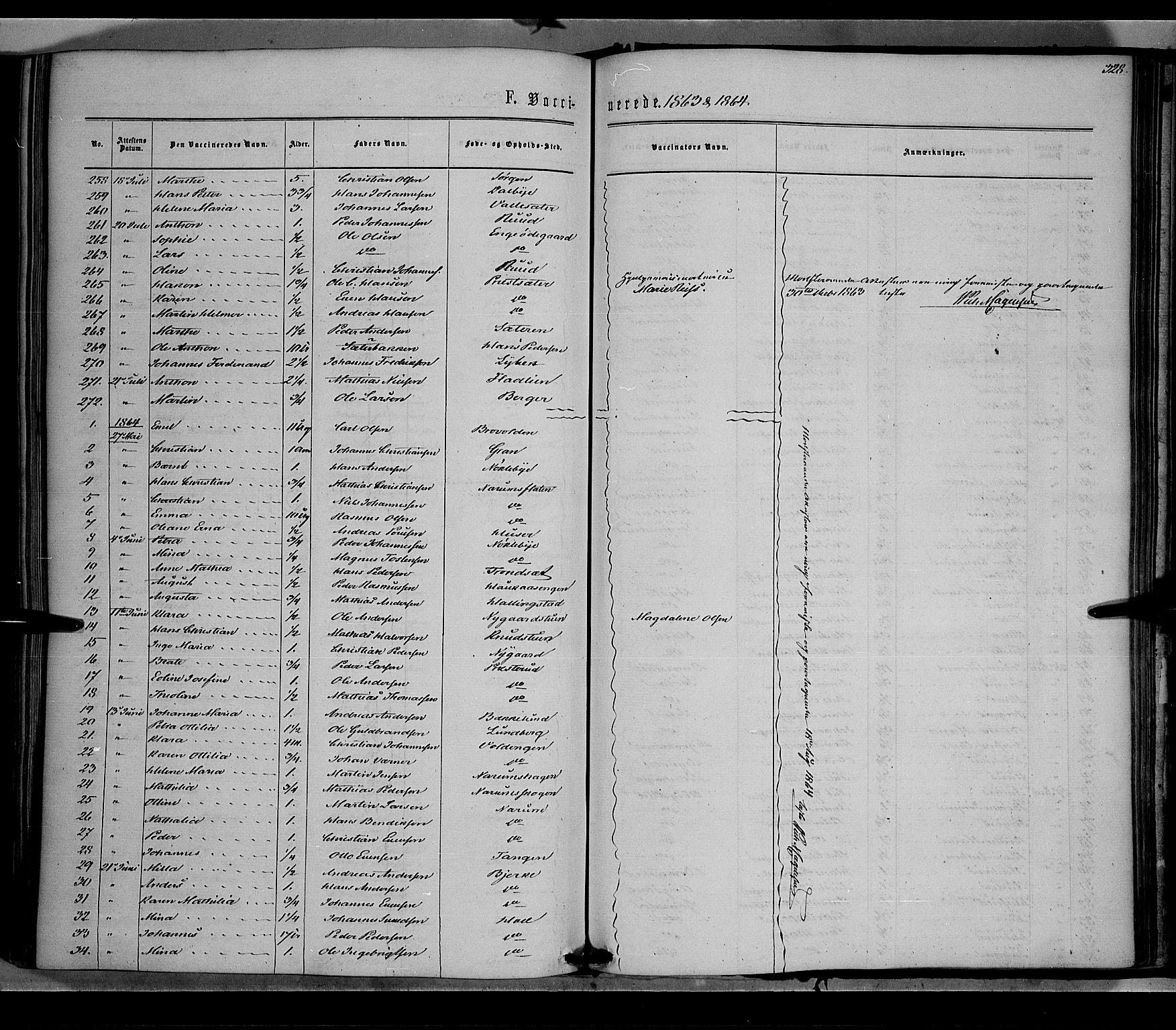SAH, Vestre Toten prestekontor, Ministerialbok nr. 7, 1862-1869, s. 328