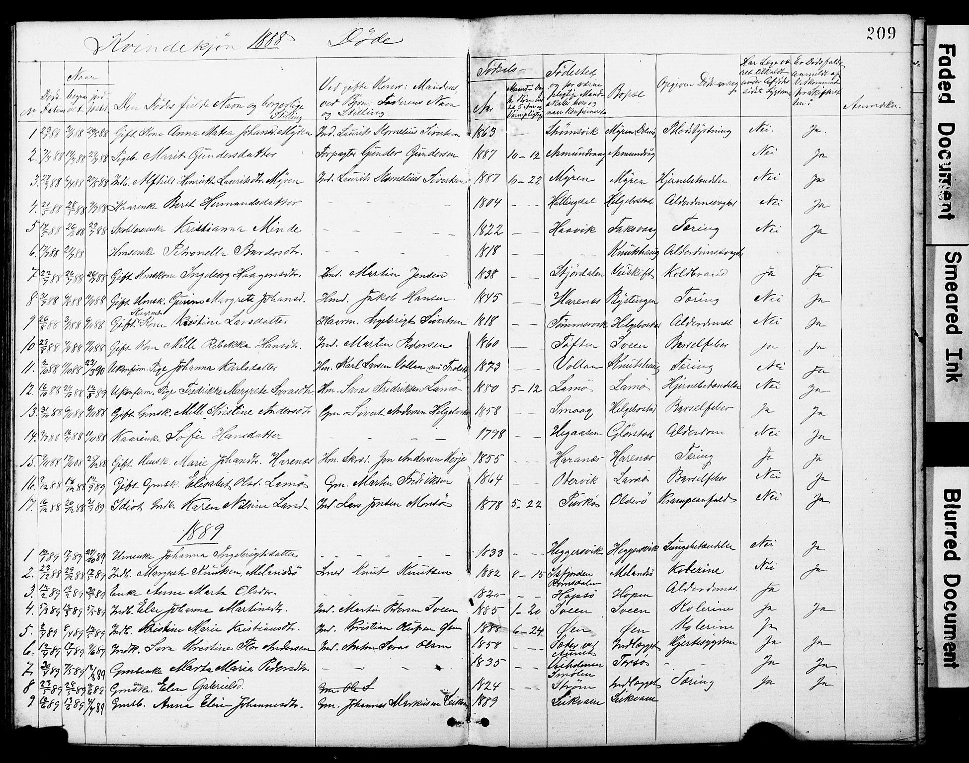 SAT, Ministerialprotokoller, klokkerbøker og fødselsregistre - Sør-Trøndelag, 634/L0541: Klokkerbok nr. 634C03, 1874-1891, s. 209