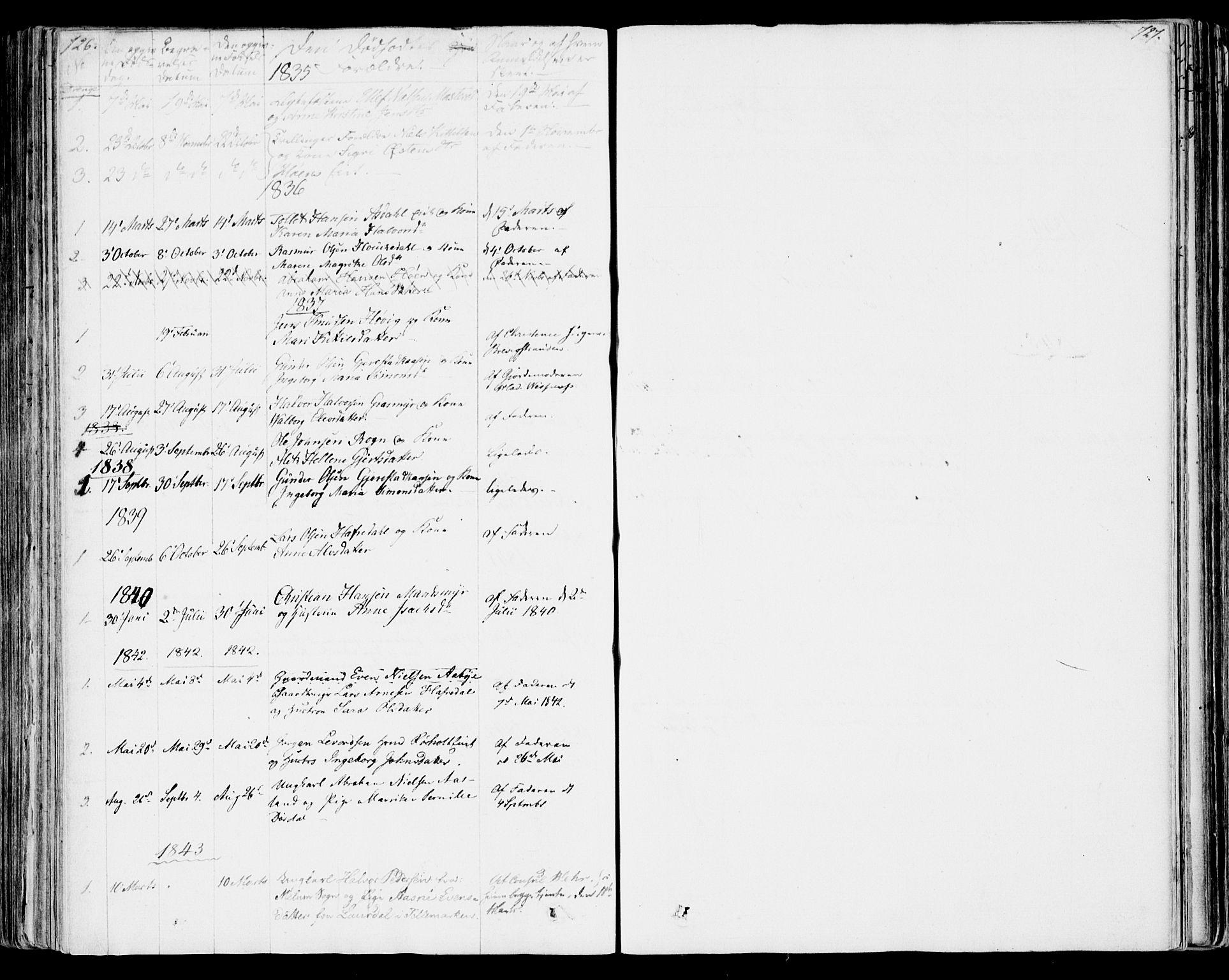 SAKO, Bamble kirkebøker, F/Fa/L0004: Ministerialbok nr. I 4, 1834-1853, s. 726-727
