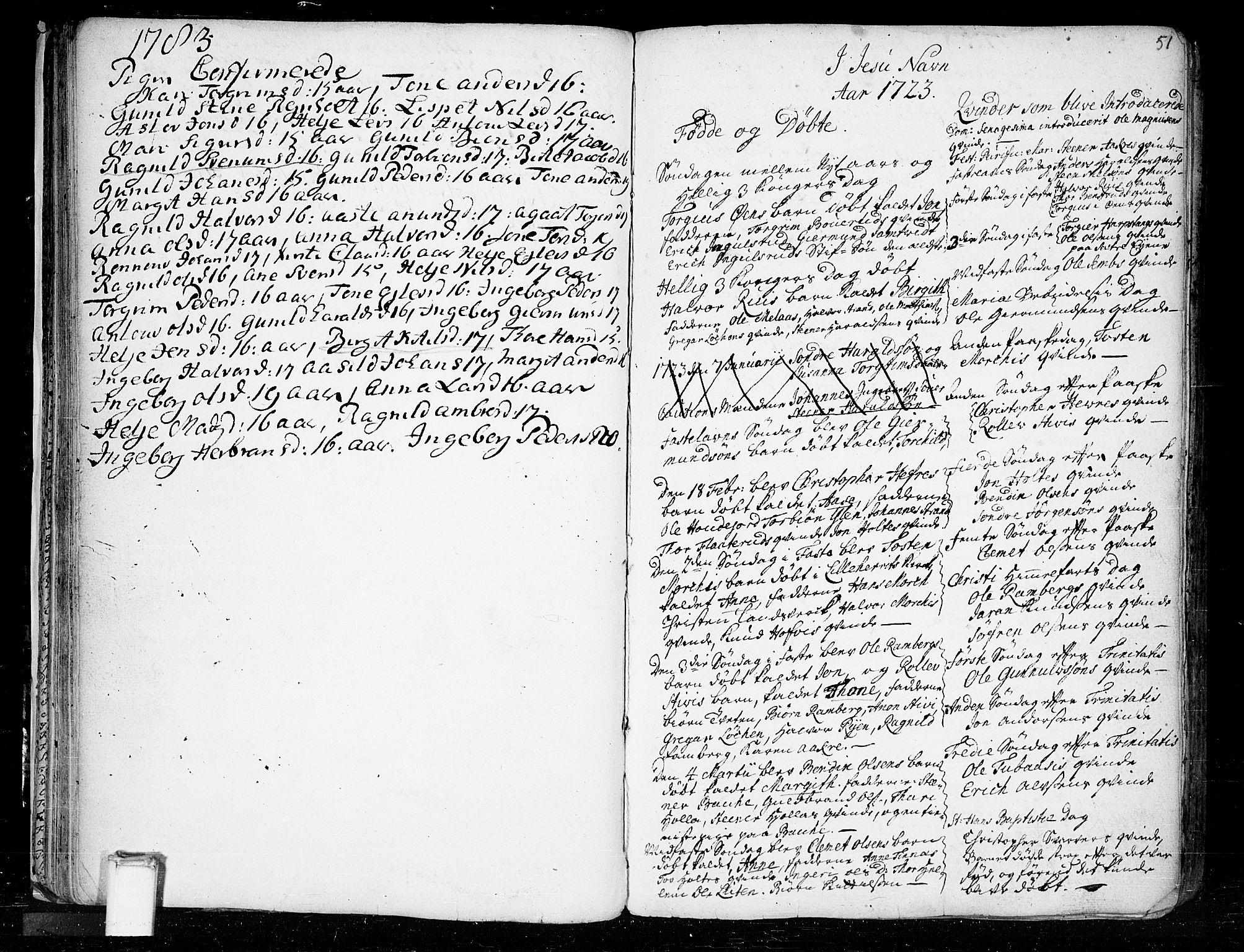 SAKO, Heddal kirkebøker, F/Fa/L0003: Ministerialbok nr. I 3, 1723-1783, s. 51