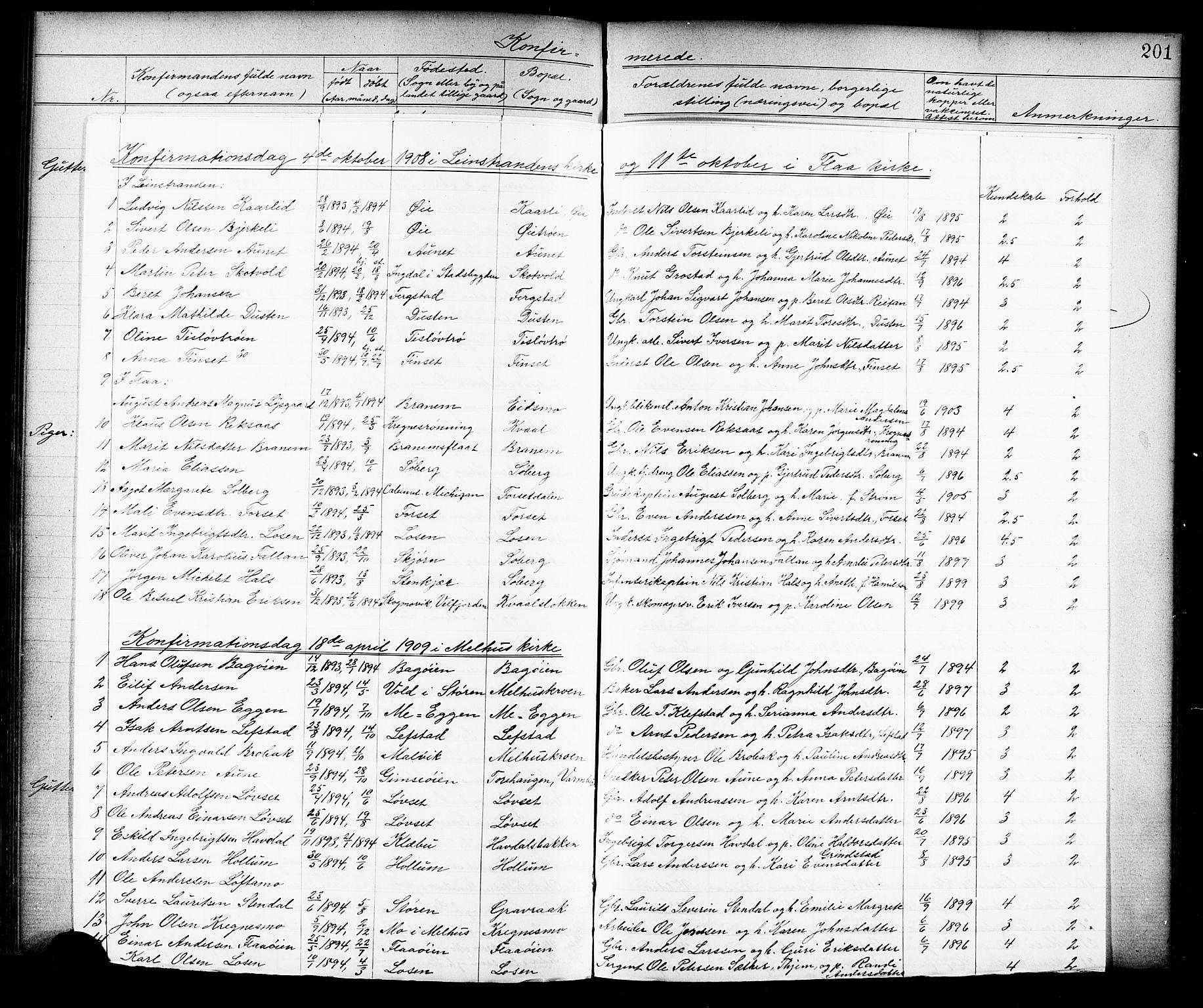 SAT, Ministerialprotokoller, klokkerbøker og fødselsregistre - Sør-Trøndelag, 691/L1094: Klokkerbok nr. 691C05, 1879-1911, s. 201h