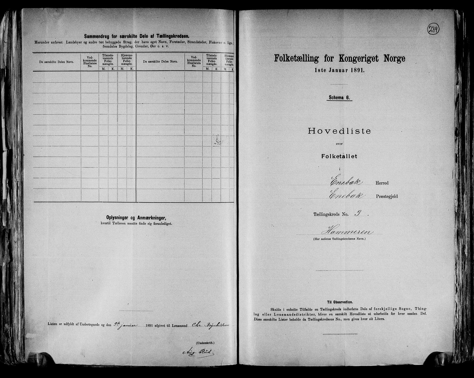 RA, Folketelling 1891 for 0229 Enebakk herred, 1891, s. 12