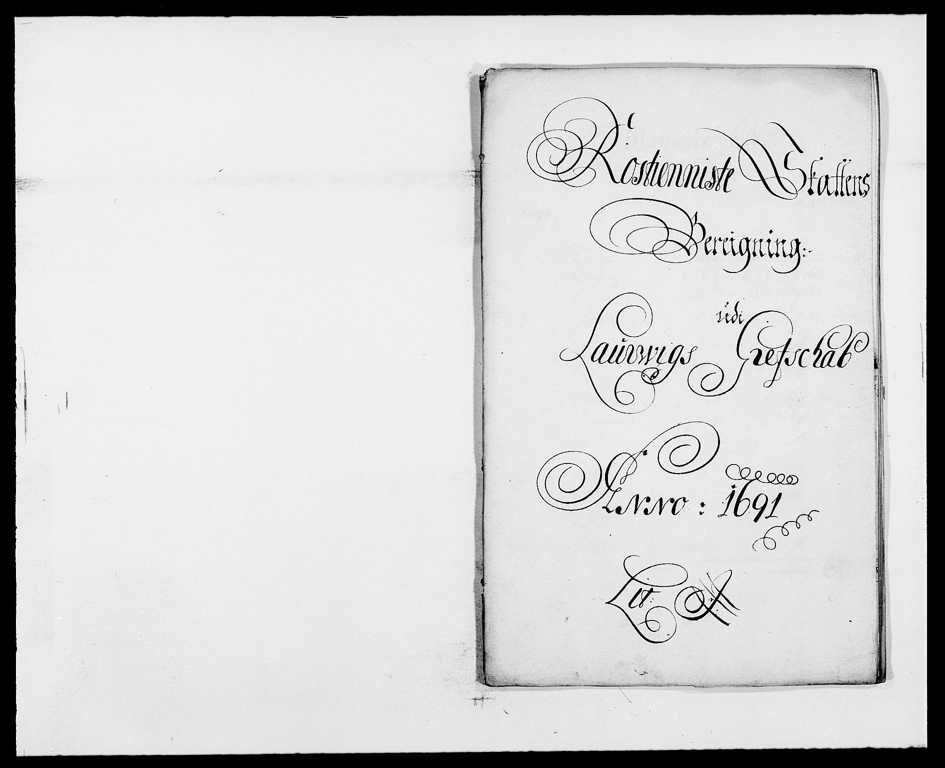 RA, Rentekammeret inntil 1814, Reviderte regnskaper, Fogderegnskap, R33/L1972: Fogderegnskap Larvik grevskap, 1690-1691, s. 354