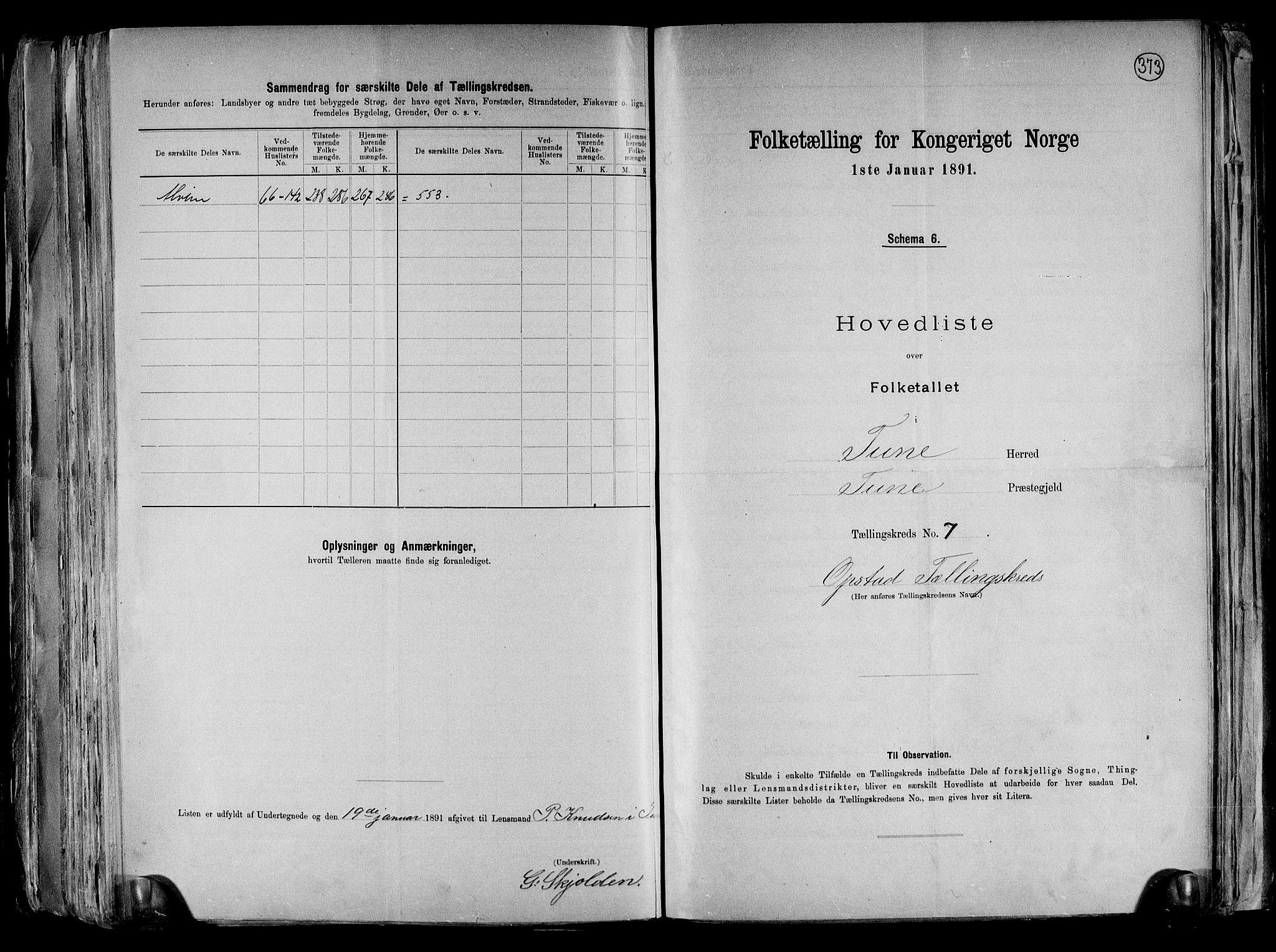 RA, Folketelling 1891 for 0130 Tune herred, 1891, s. 31