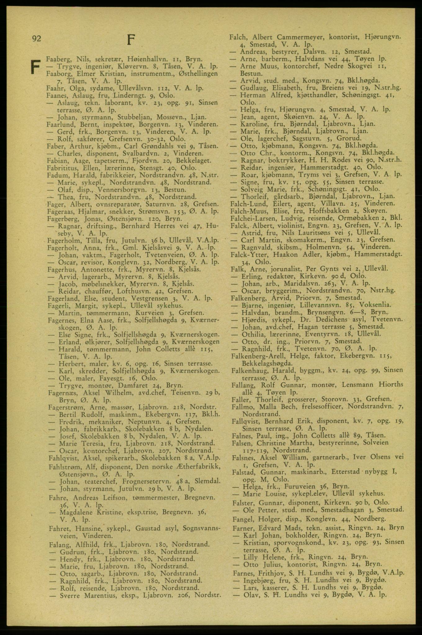 PUBL, Aker adressebok/adressekalender, 1937-1938, s. 92