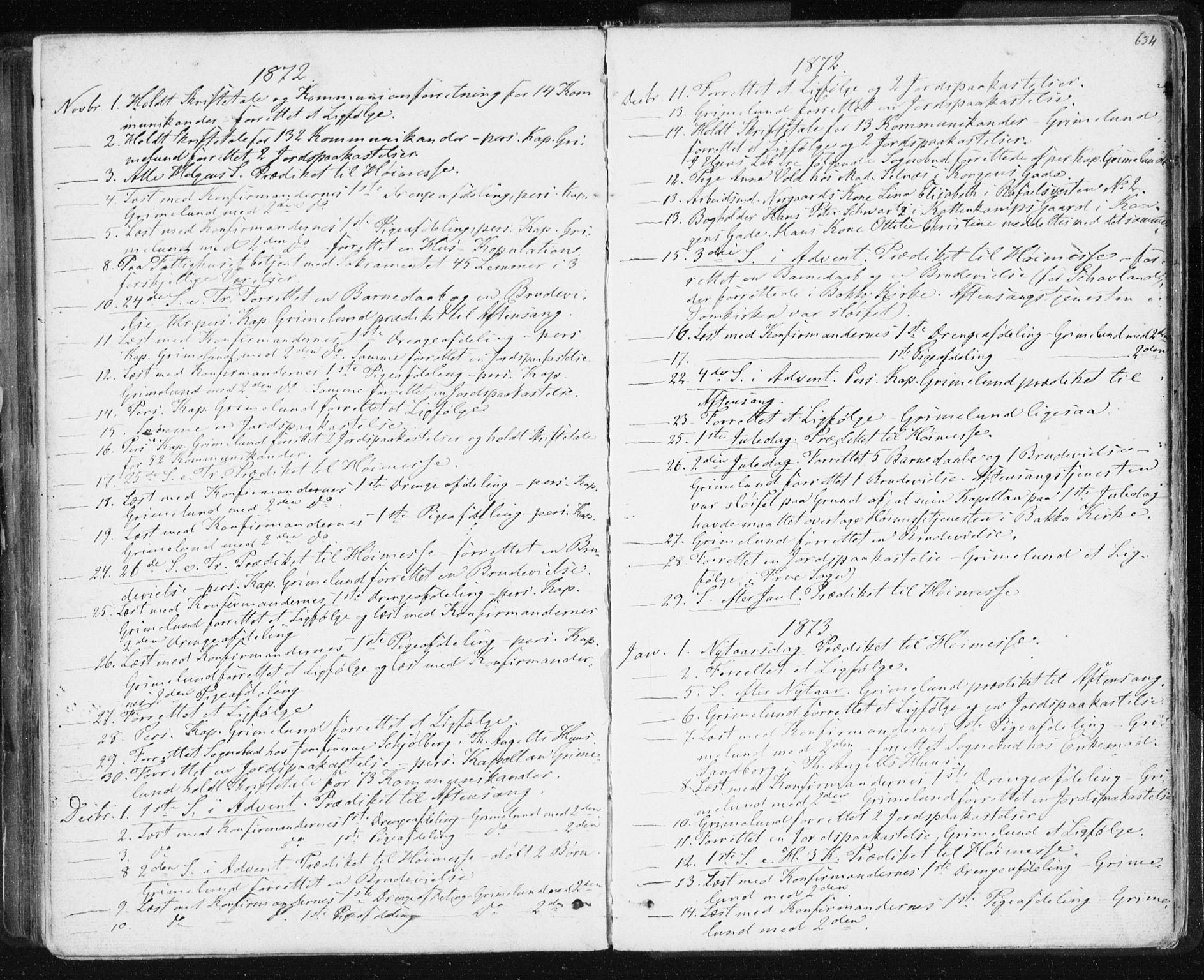 SAT, Ministerialprotokoller, klokkerbøker og fødselsregistre - Sør-Trøndelag, 601/L0055: Ministerialbok nr. 601A23, 1866-1877, s. 634