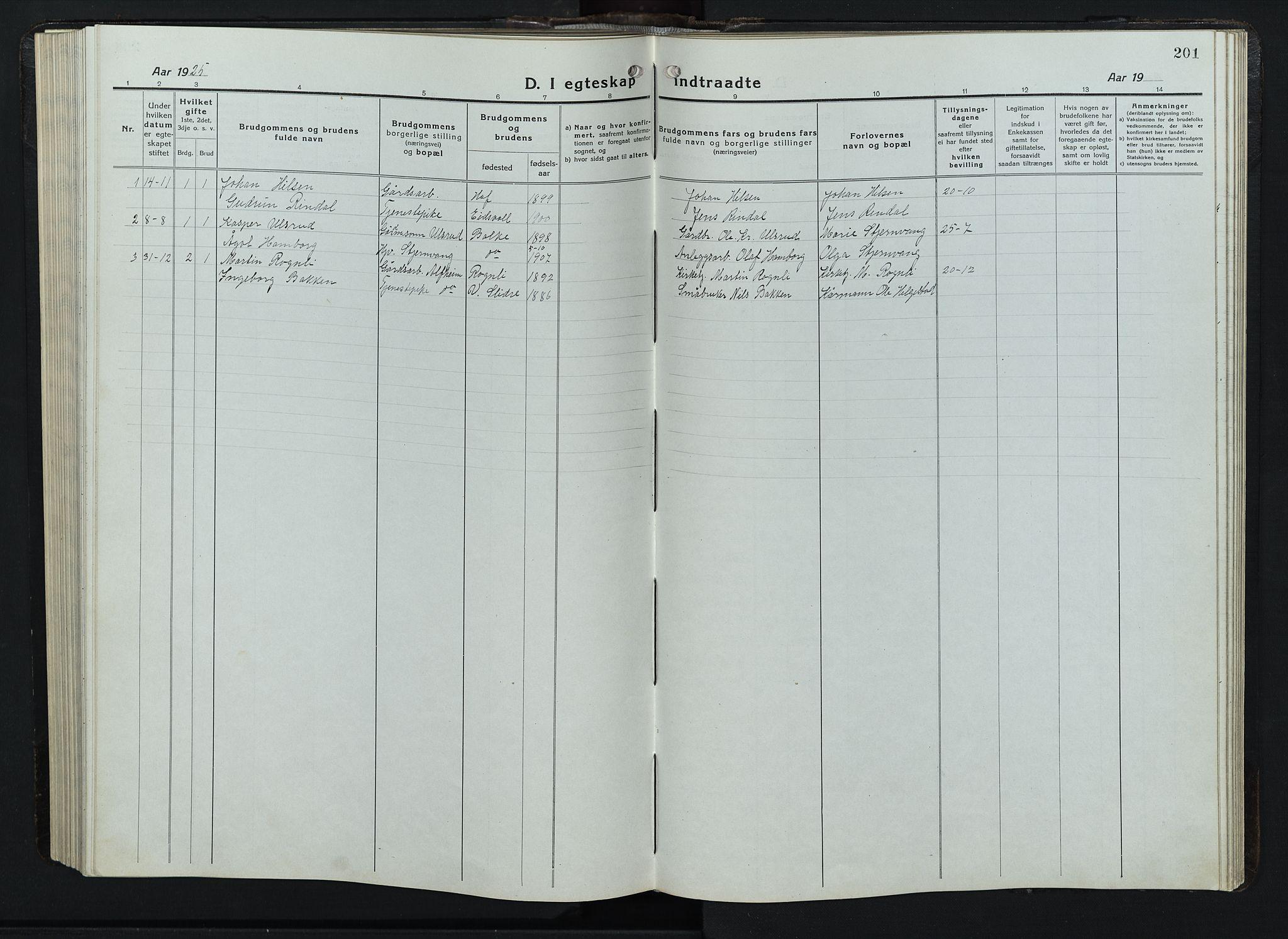 SAH, Balke prestekontor, Klokkerbok nr. 1, 1920-1955, s. 201