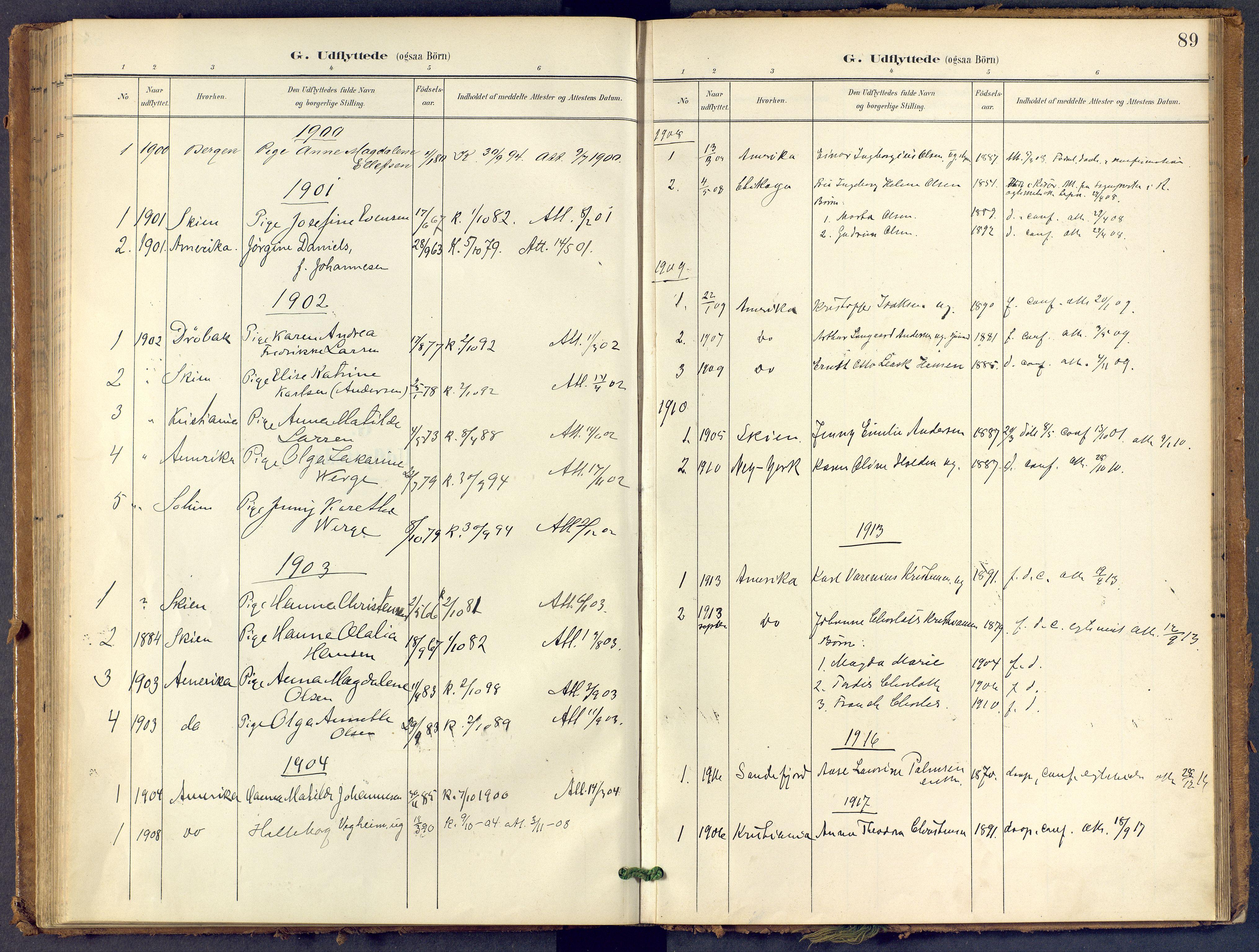SAKO, Bamble kirkebøker, F/Fb/L0002: Ministerialbok nr. II 2, 1900-1921, s. 89