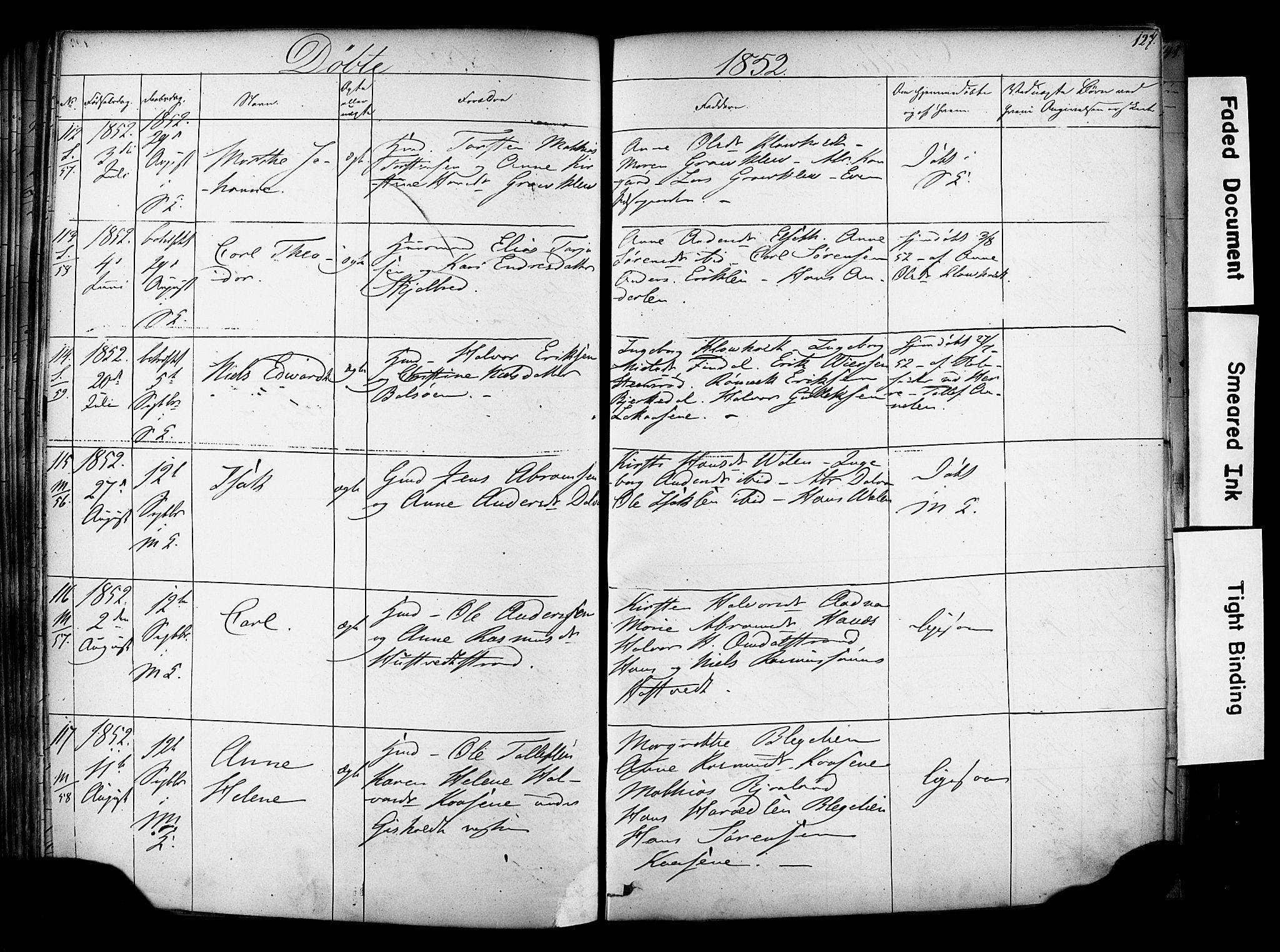 SAKO, Solum kirkebøker, F/Fa/L0006: Ministerialbok nr. I 6, 1844-1855, s. 127