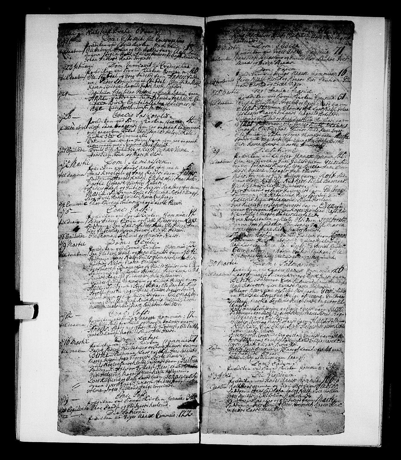 SAKO, Norderhov kirkebøker, F/Fa/L0002b: Ministerialbok nr. 2B, 1726-1739, s. 564-565
