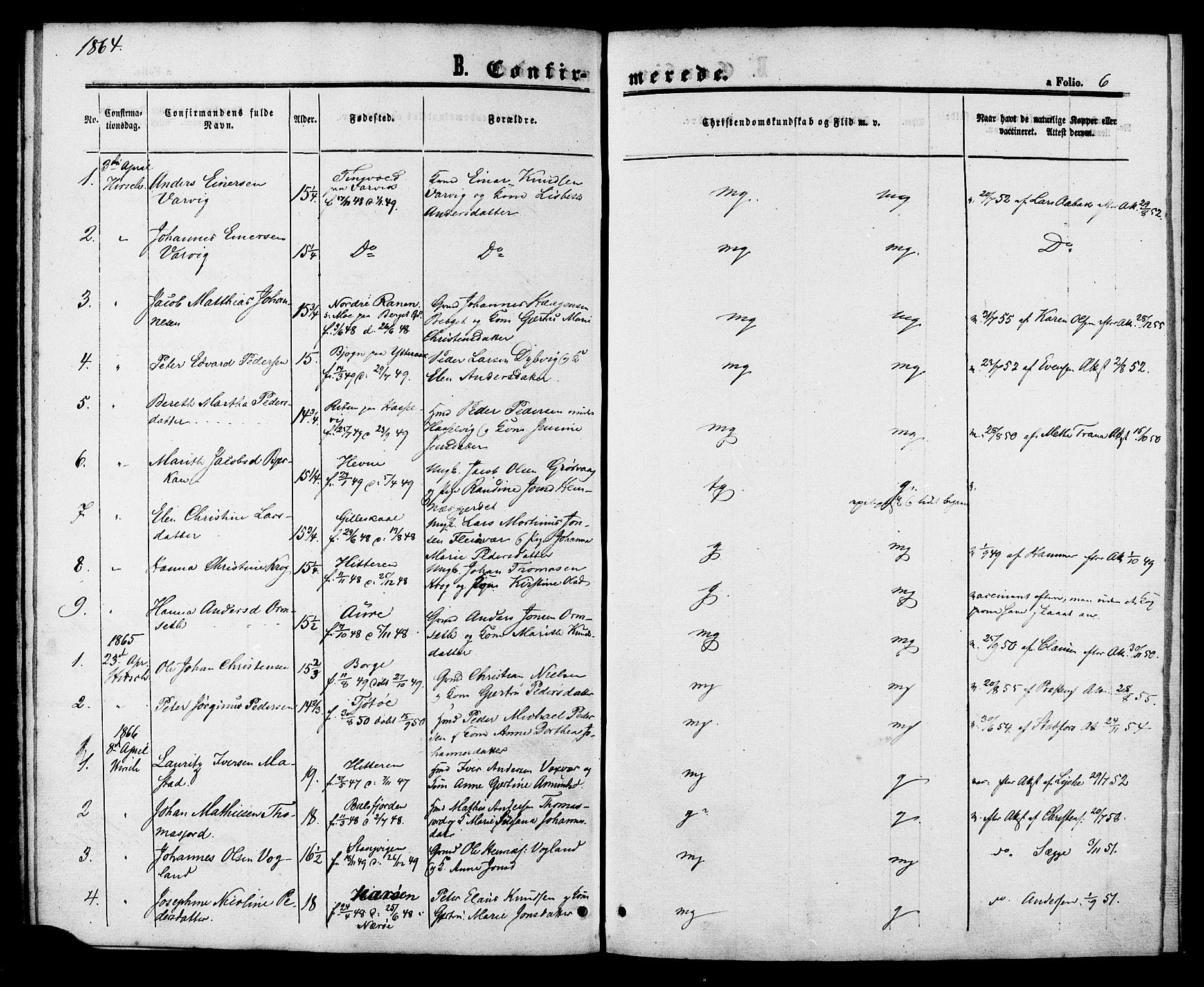 SAT, Ministerialprotokoller, klokkerbøker og fødselsregistre - Sør-Trøndelag, 629/L0485: Ministerialbok nr. 629A01, 1862-1869, s. 6