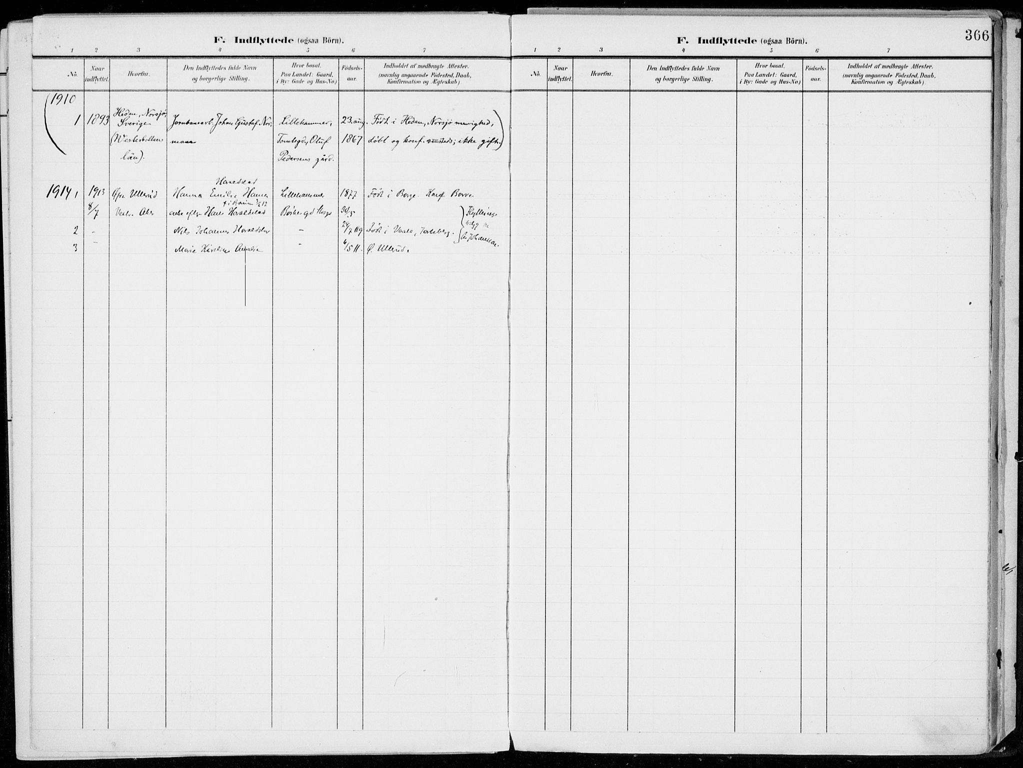 SAH, Lillehammer prestekontor, Ministerialbok nr. 1, 1901-1916, s. 366