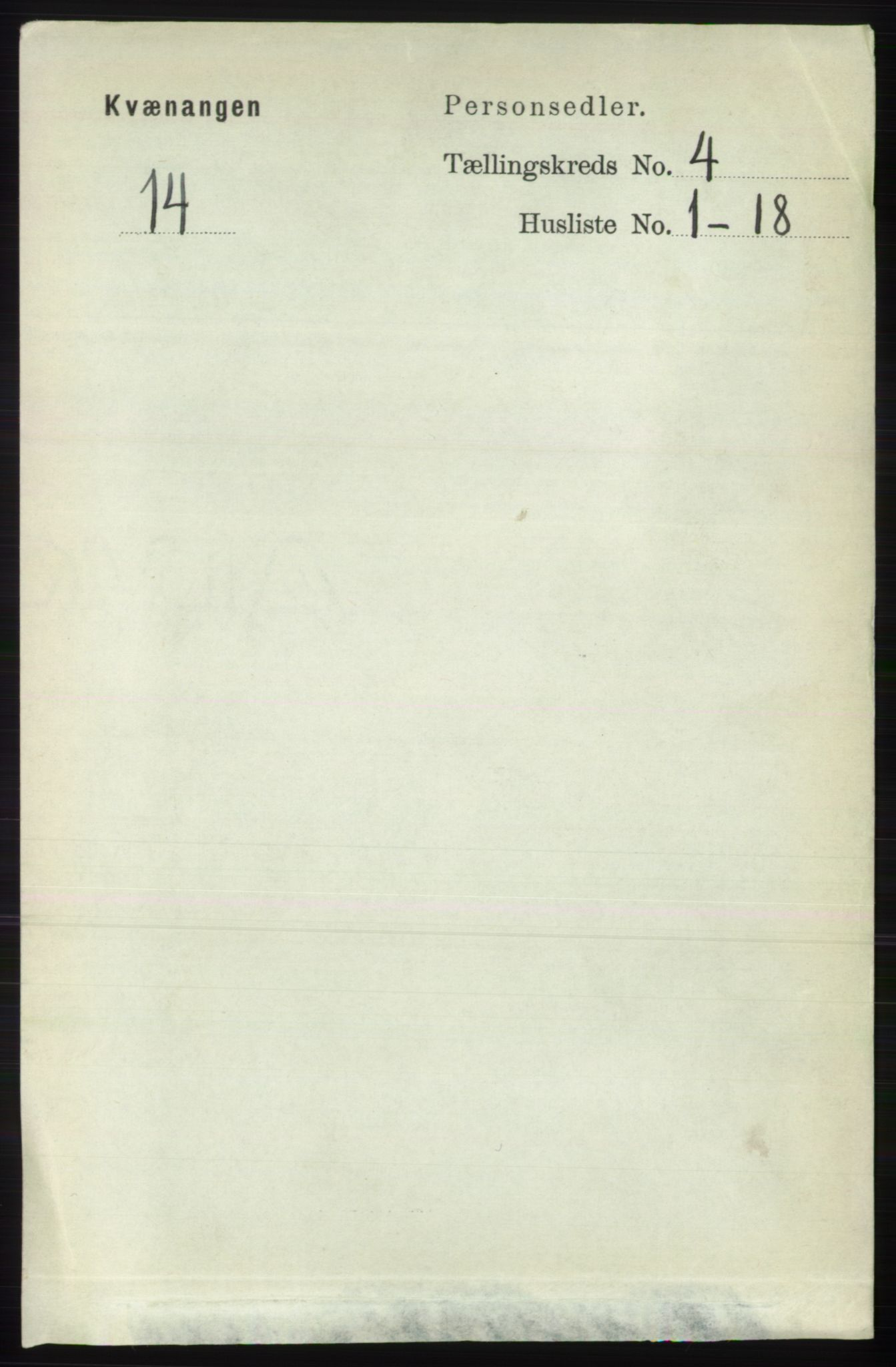 RA, Folketelling 1891 for 1943 Kvænangen herred, 1891, s. 1541