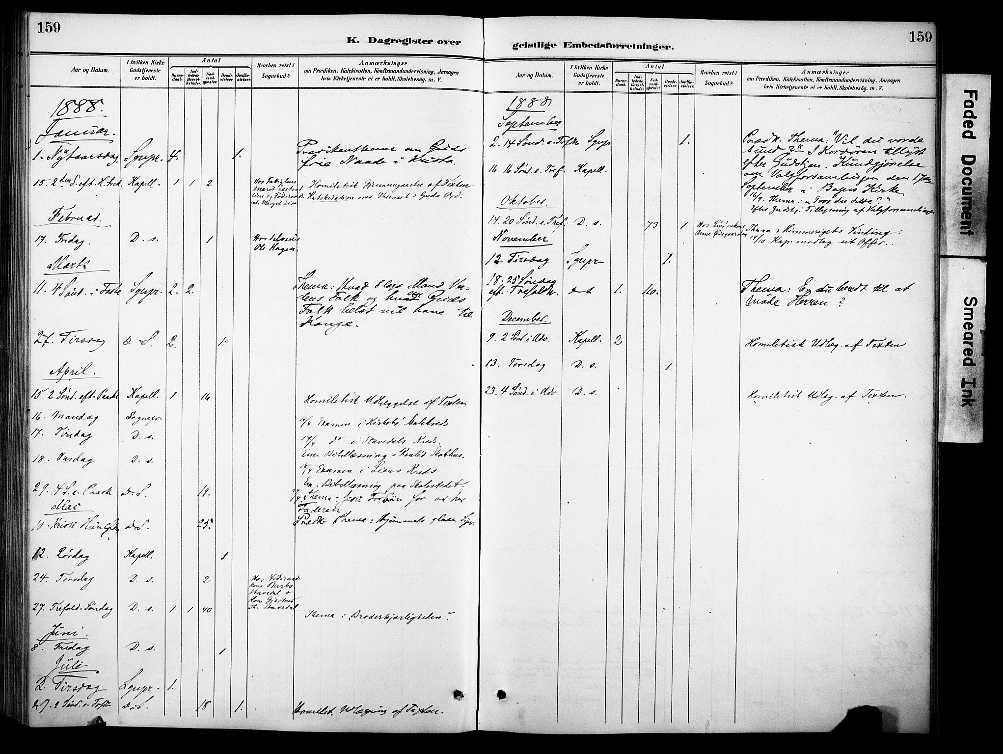 SAH, Sør-Aurdal prestekontor, Ministerialbok nr. 10, 1886-1906, s. 159