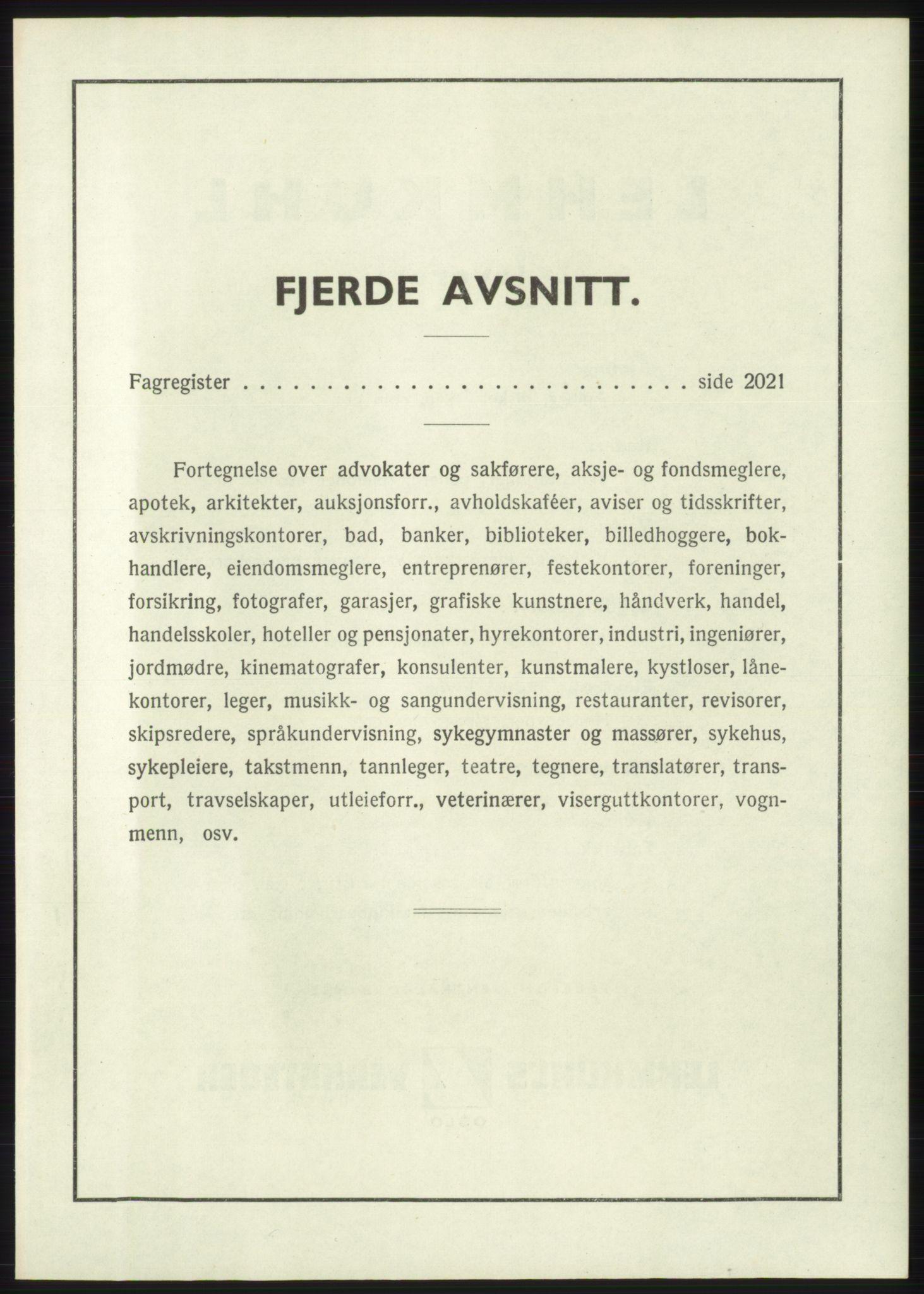 RA, Oslo adressebok (publikasjon)*, 1946, s. upaginert