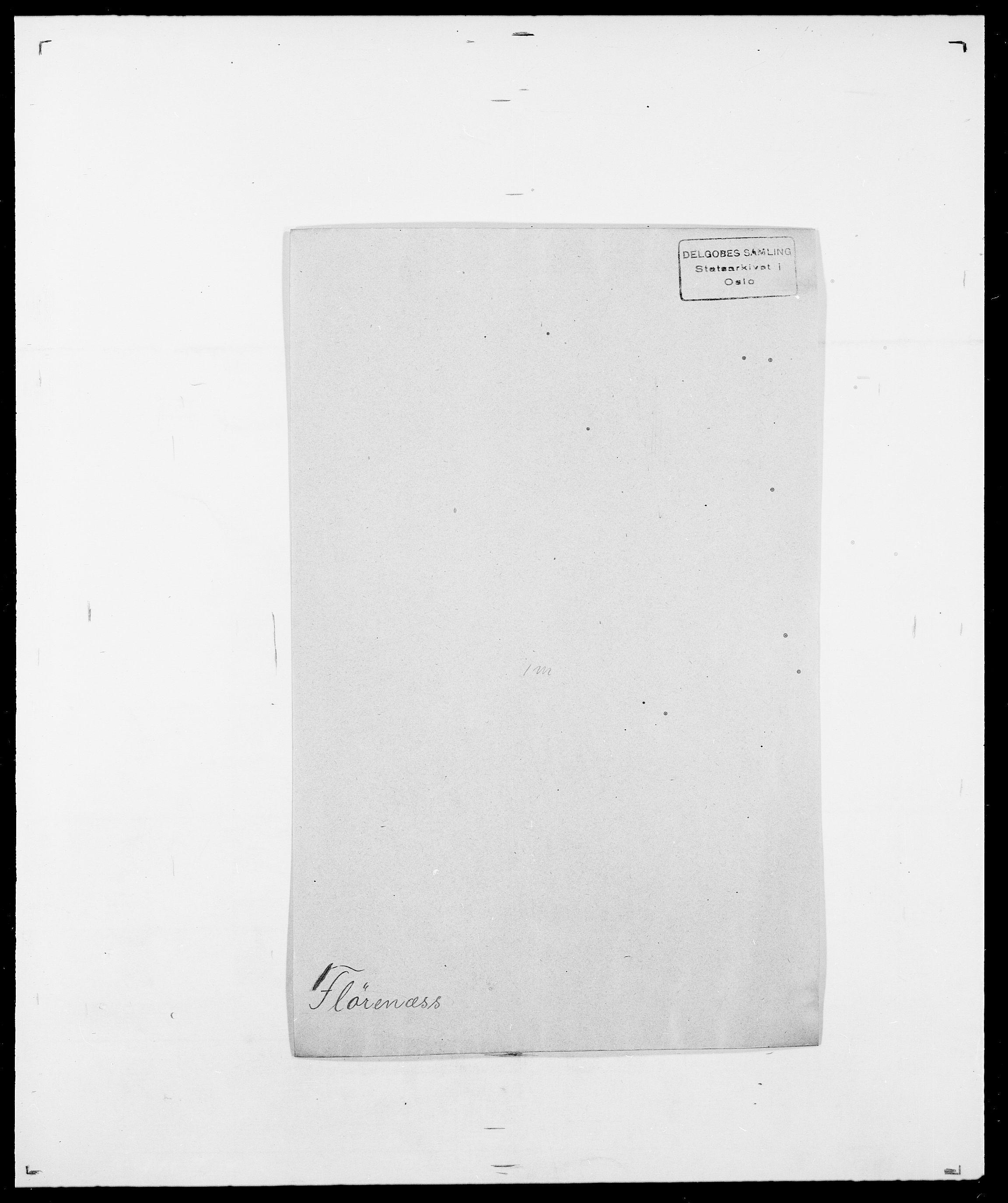 SAO, Delgobe, Charles Antoine - samling, D/Da/L0012: Flor, Floer, Flohr - Fritzner, s. 501